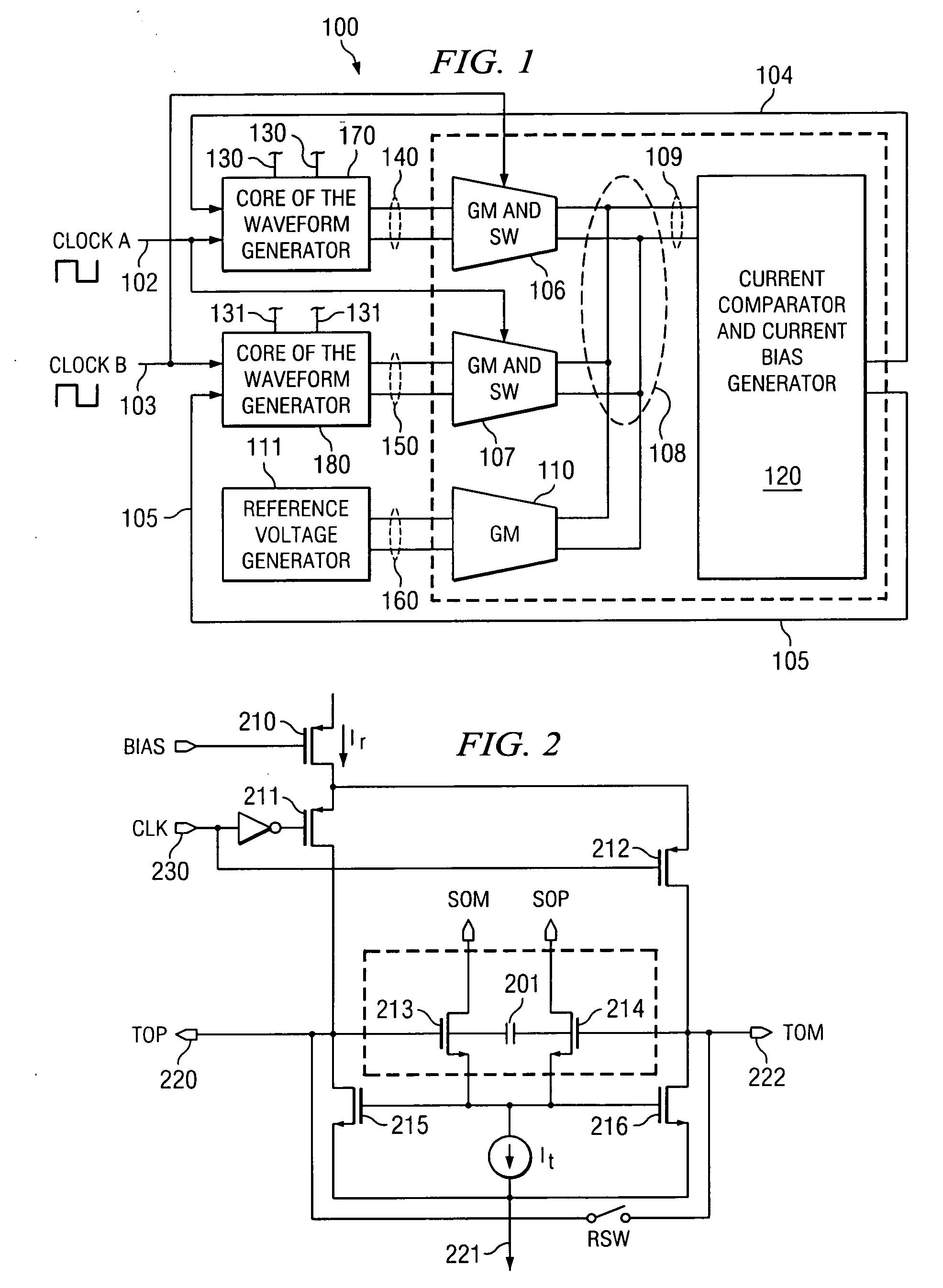 Patent Us20040085102 Combination Triangular Waveform Generator Wave Circuit Drawing