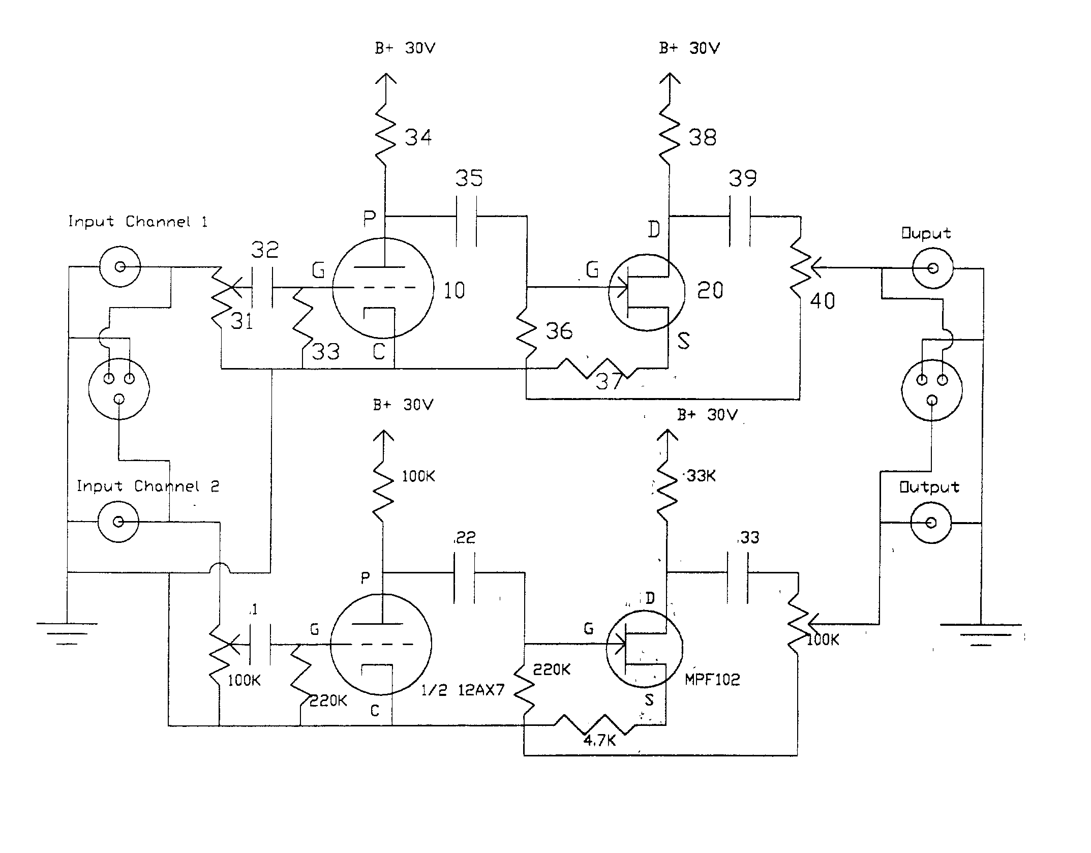 Patent Us20040090263 Tube Input Jfet Output Tijo Zero Feedback How To Test Fetsjfet And Mosfet Circuit Wiring Diagrams Drawing