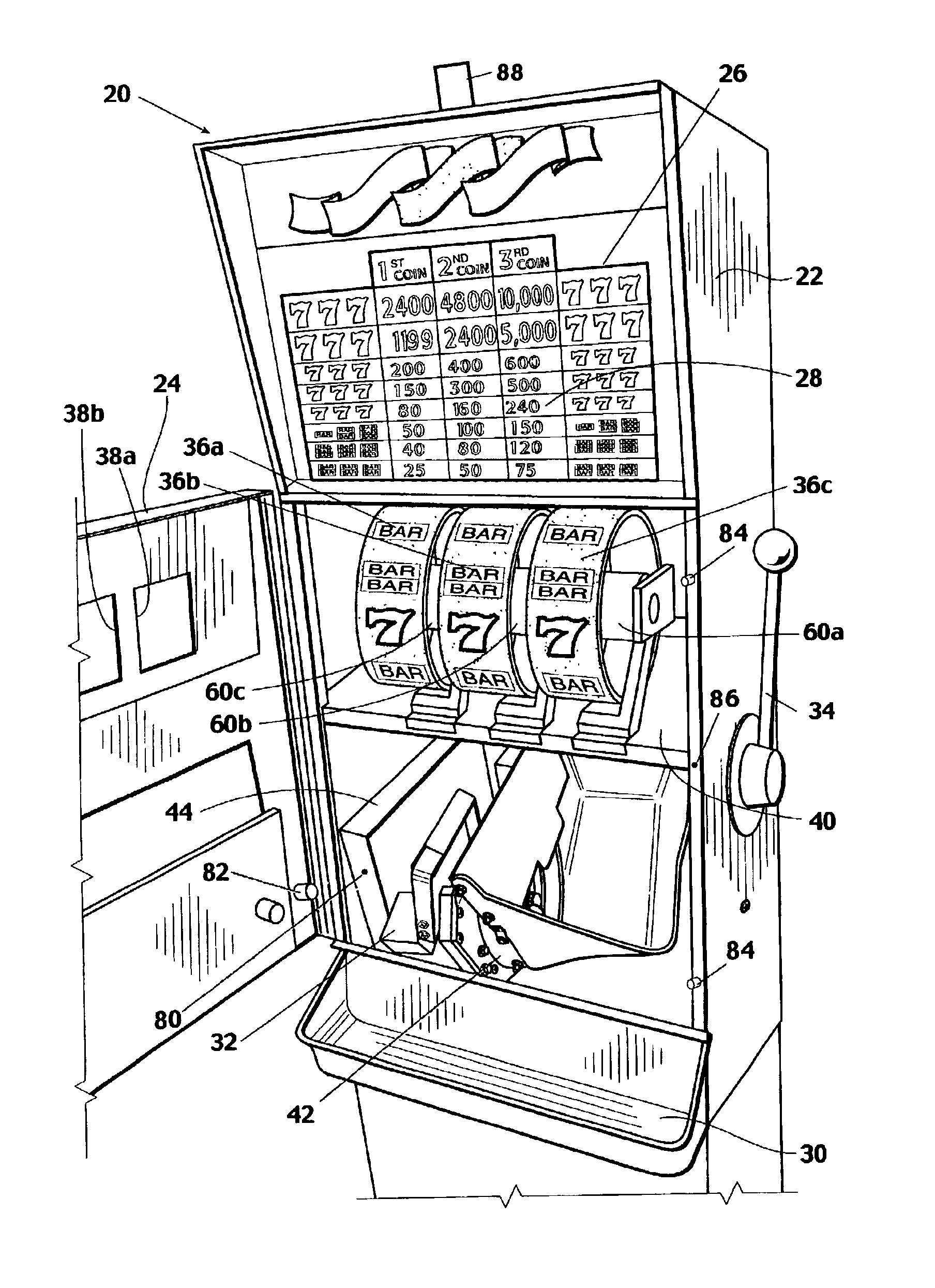 Patent US20040097285 Anticheating device for a gaming machine – Jackpot Wiring Diagram