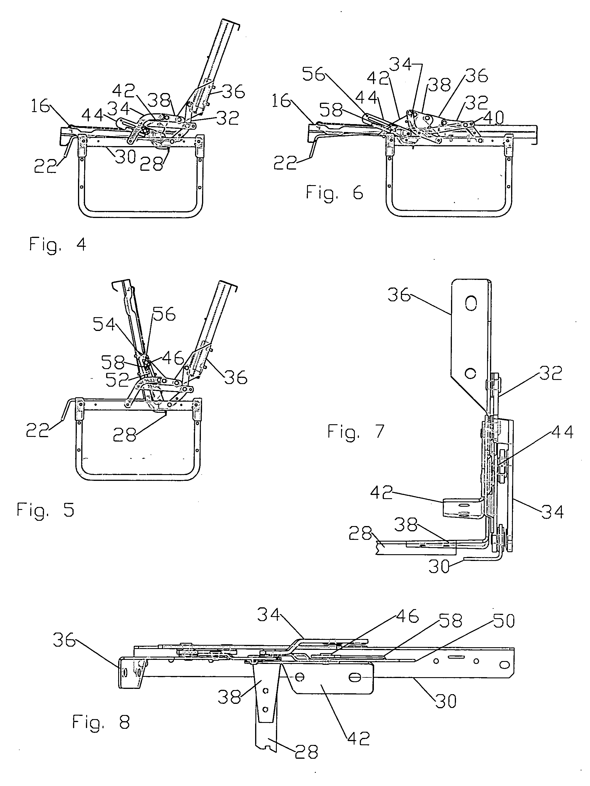 Patent Us20040107498 Jackknife Style Convertible Bed