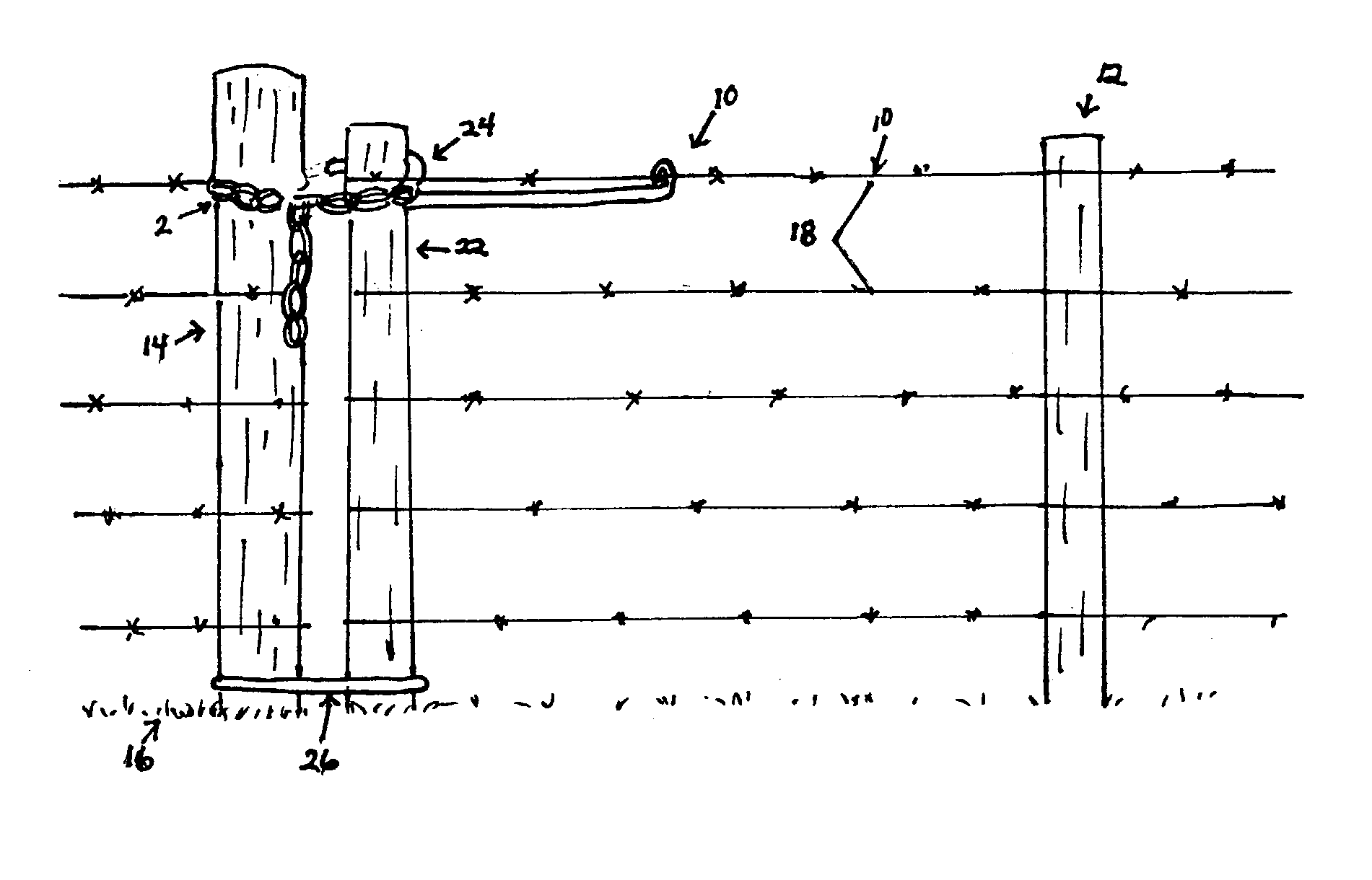 Patent us  wire gate latch google patents
