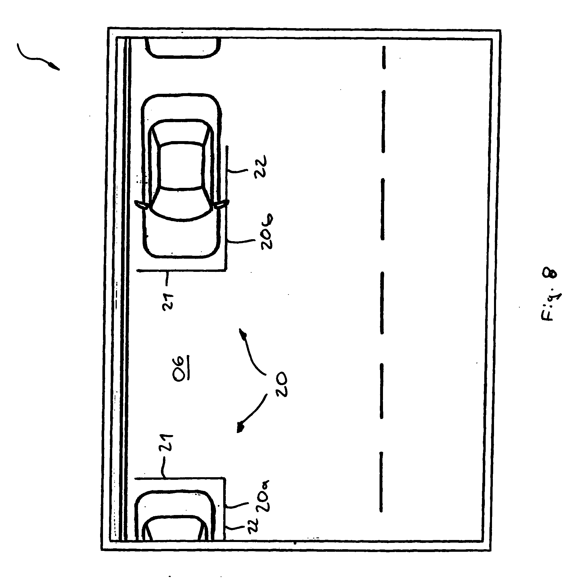 Patent Drawing  Patent US20040130464 Method of operating a display system  in a. Parallel Parking Spaces Dimensions   cpgworkflow com