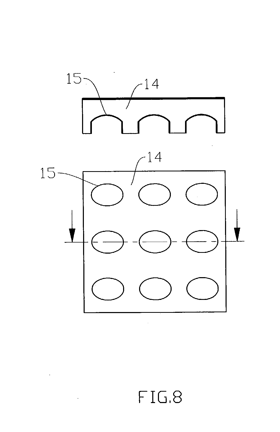 patent us20040130515 - planar display structure with led light source