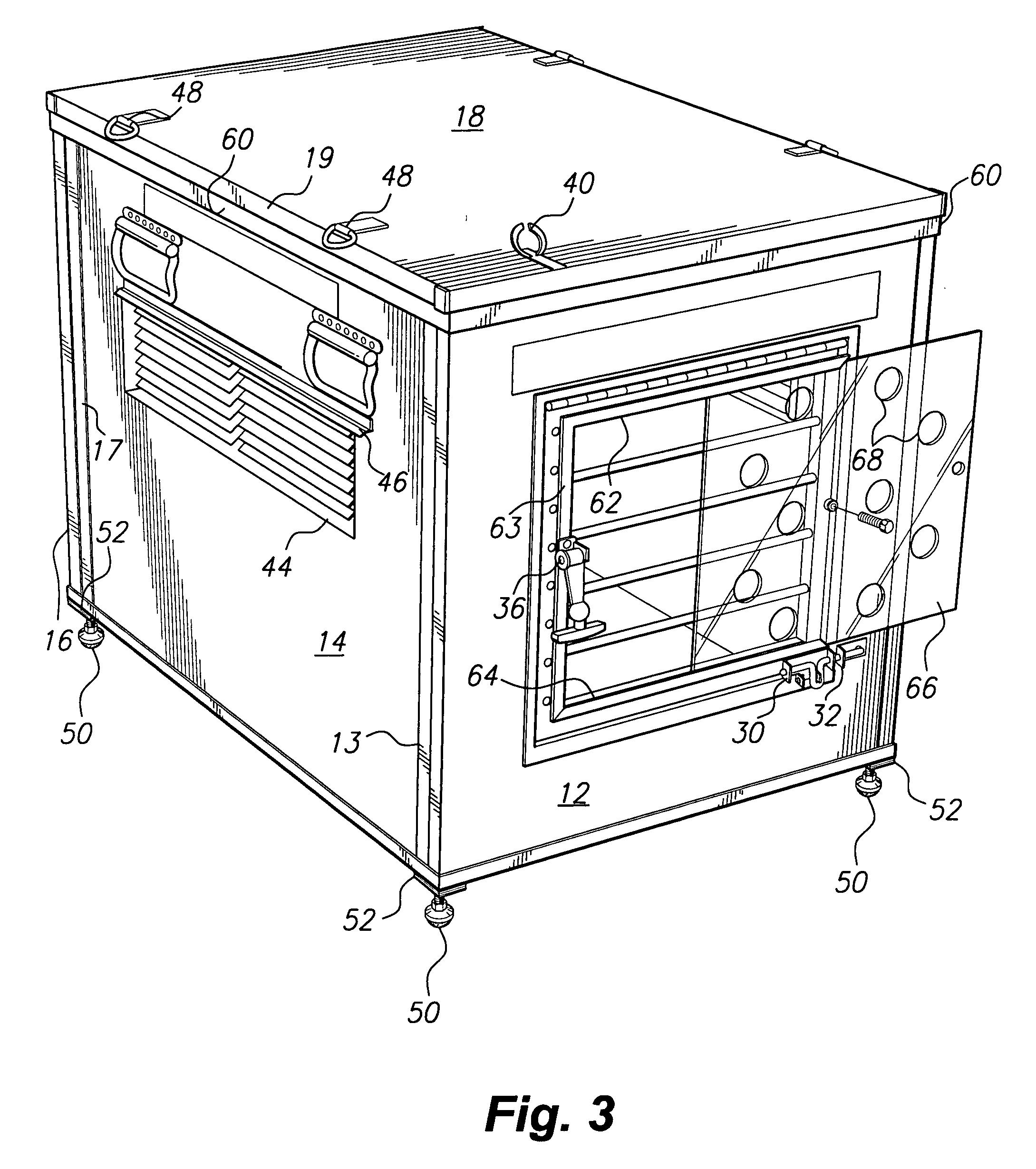 Patent Us20040134444 Folding Aluminum Dog Box Having