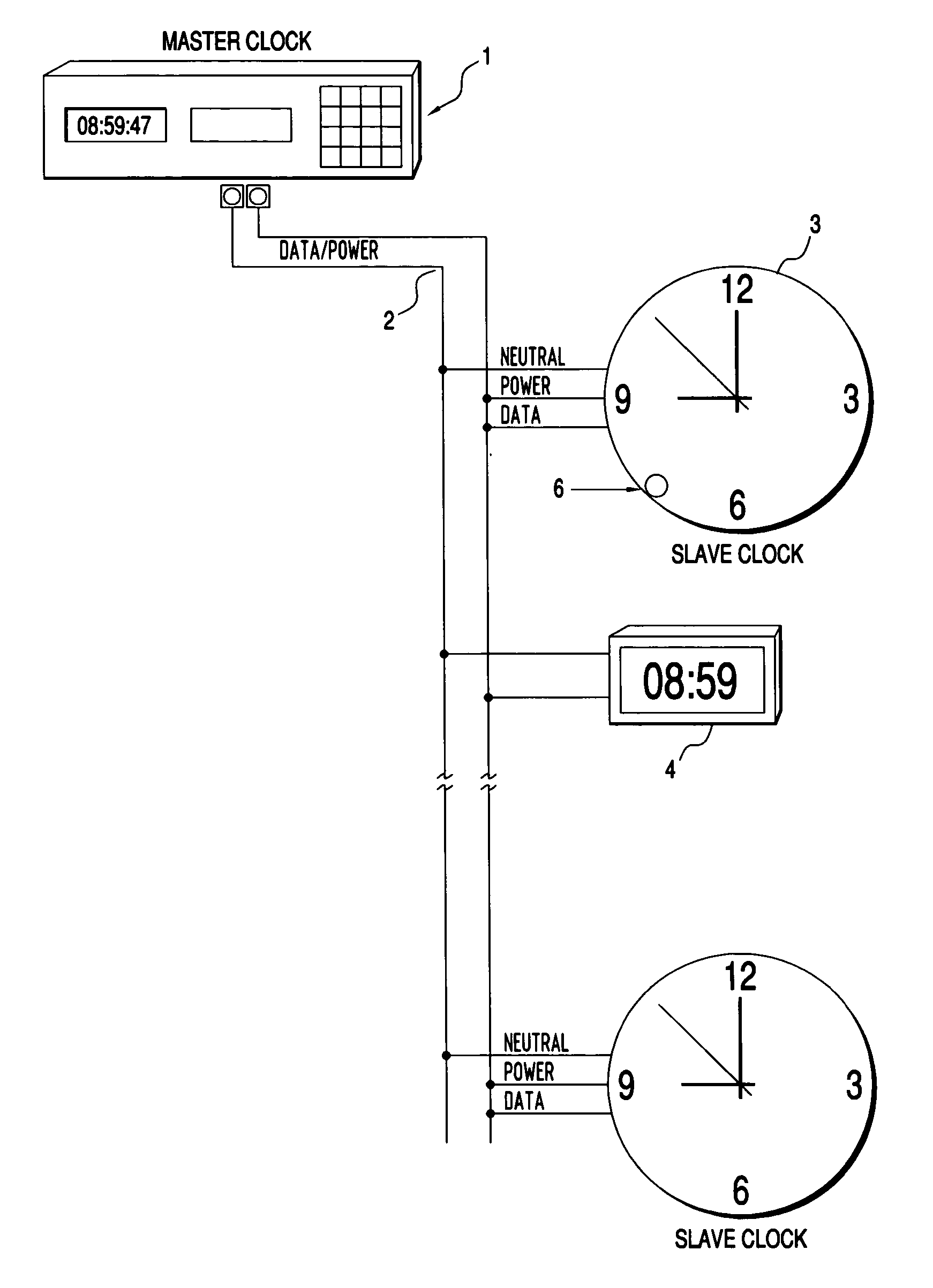 US20040165480A1 20040826 D00000 patent us20040165480 master slave clock system with automatic master clock system wiring diagram at eliteediting.co