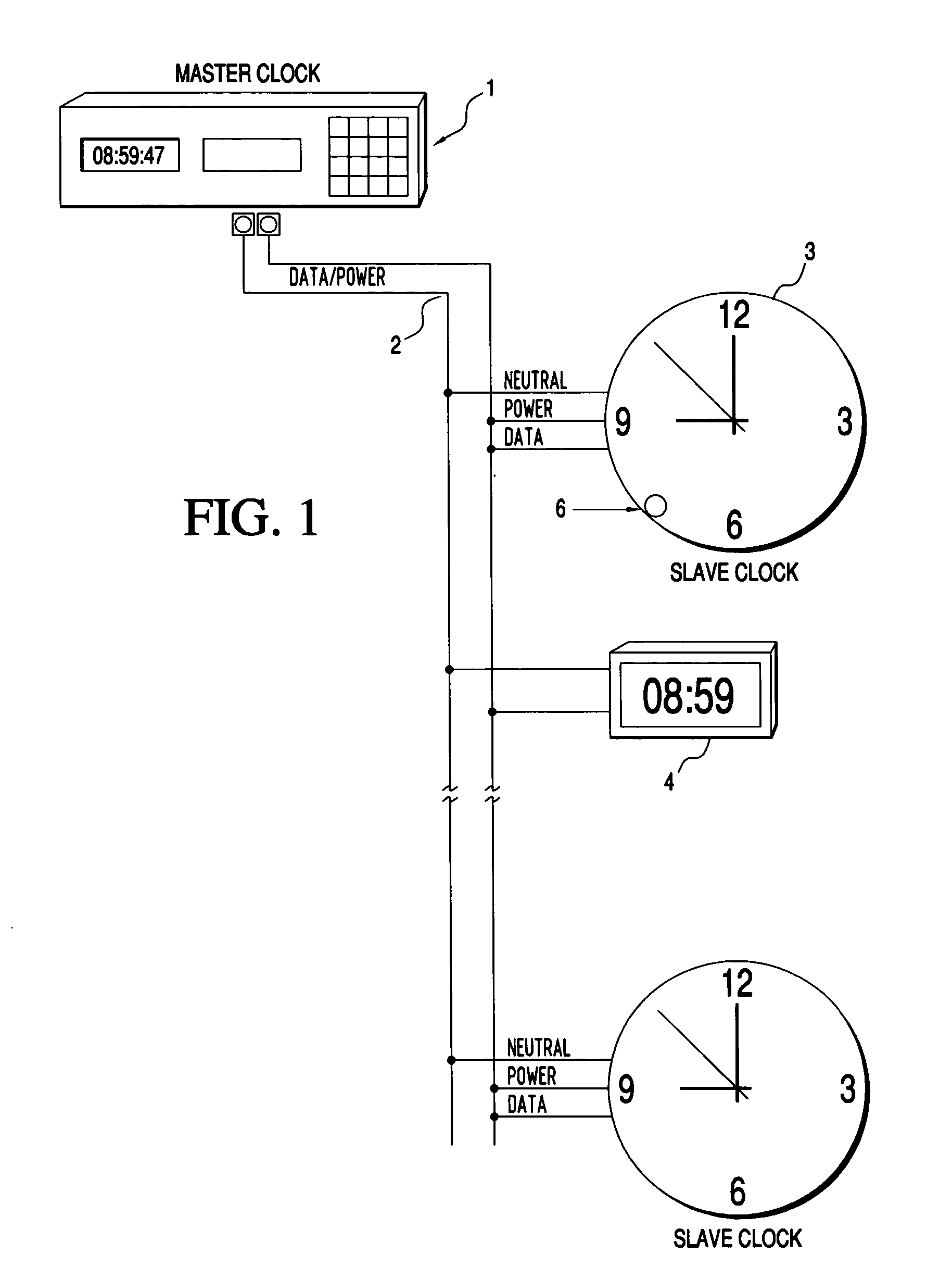 US20040165480A1 20040826 D00001 patent us20040165480 master slave clock system with automatic master clock system wiring diagram at reclaimingppi.co