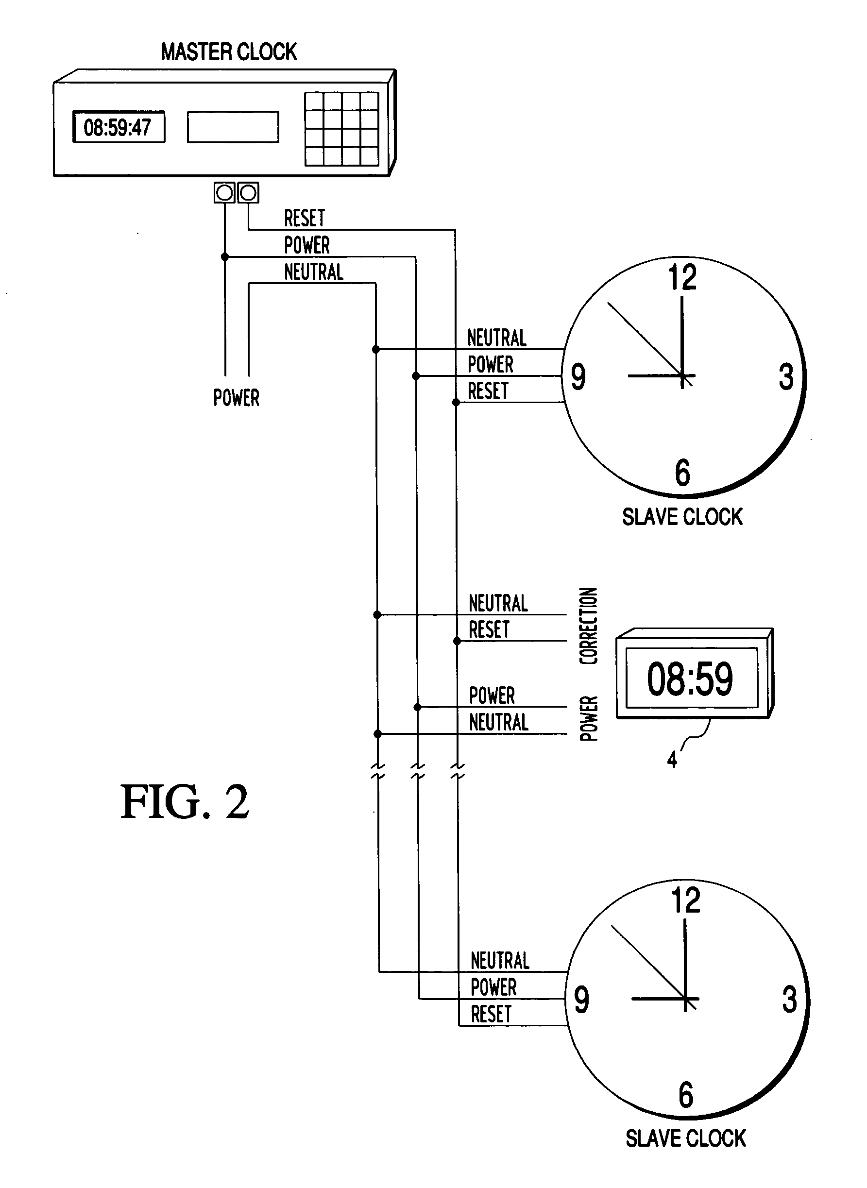 US20040165480A1 20040826 D00002 patent us20040165480 master slave clock system with automatic master clock system wiring diagram at reclaimingppi.co