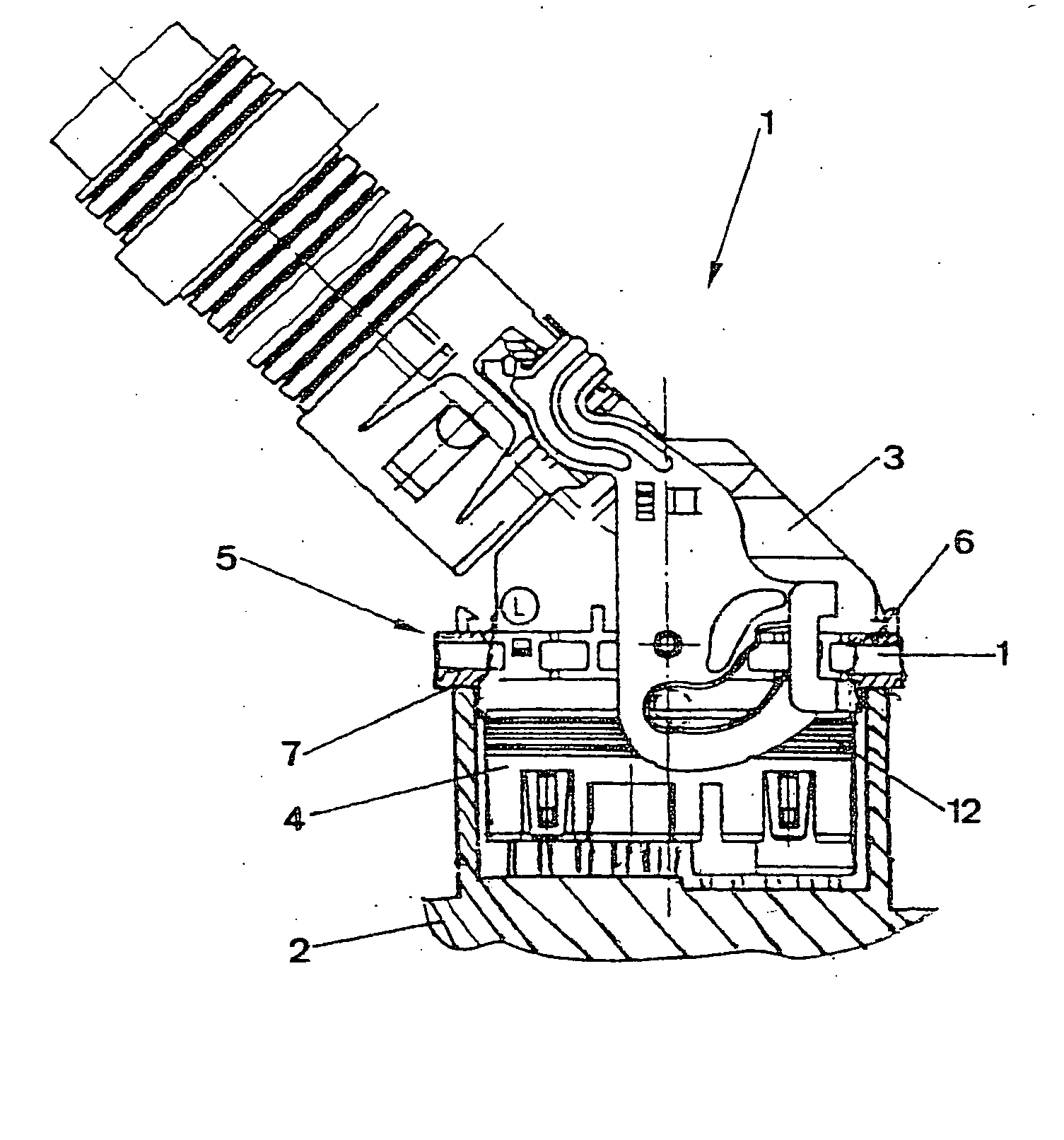 brevet us20040180565 cable form connector with a circumferential Deutsch Connectors patent drawing