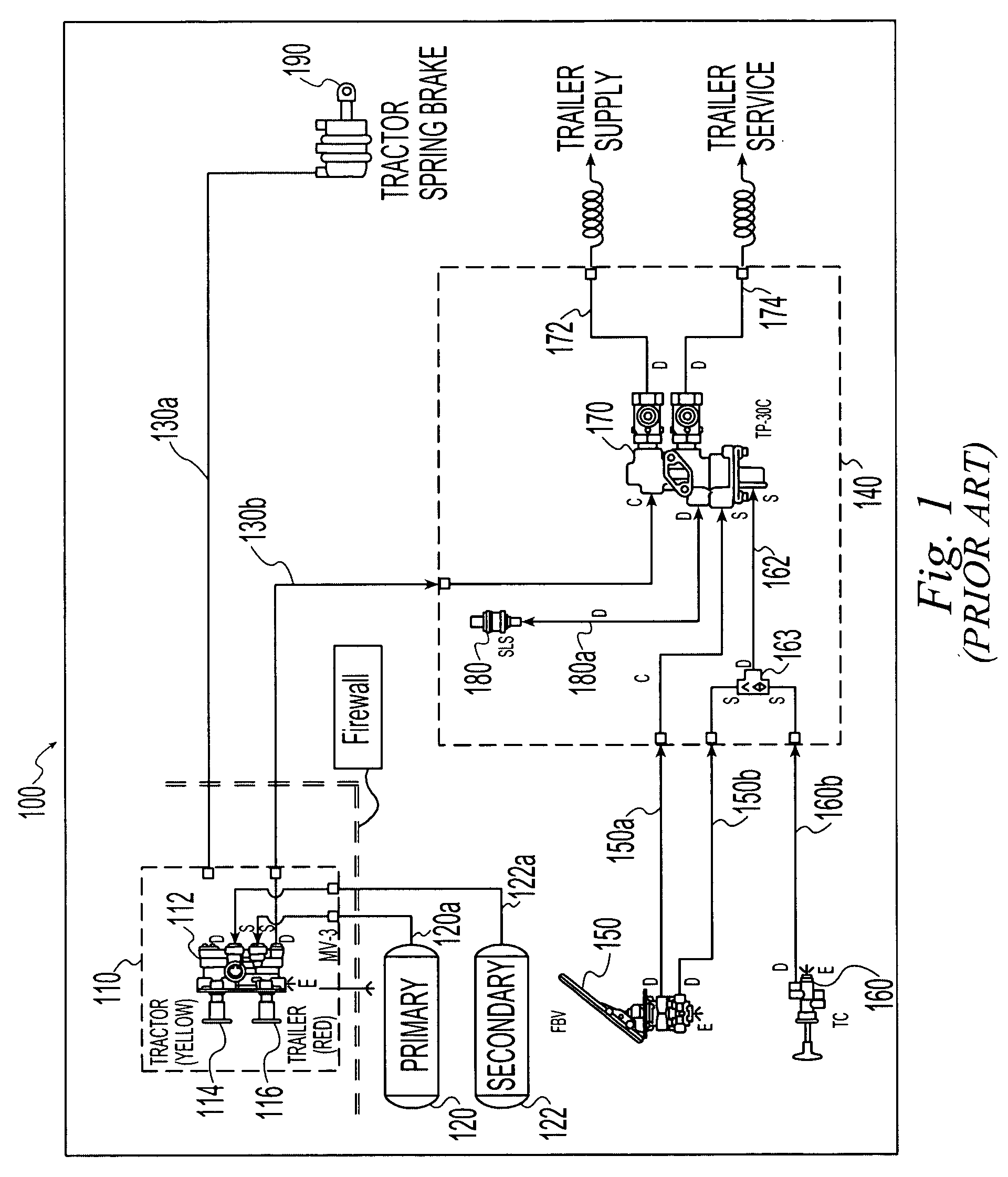US20040187674A1 20040930 D00001 patent us20040187674 electro pneumatic latching valve system bendix trailer abs wiring diagram at eliteediting.co