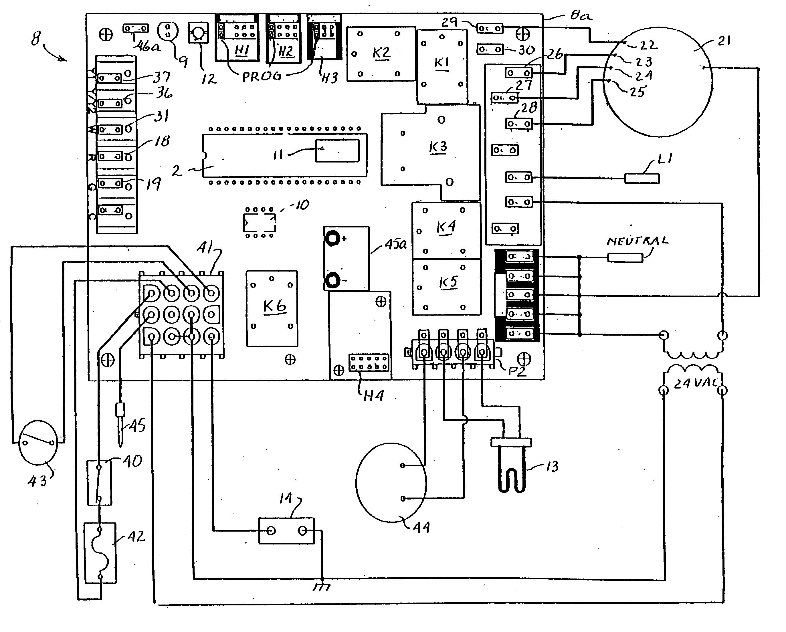 Heil Gas Furnace Control Board Wiring Diagram 45 Mobile Home Thermostat Us20040230402a1 20041118 D00000 Acc0436 Older