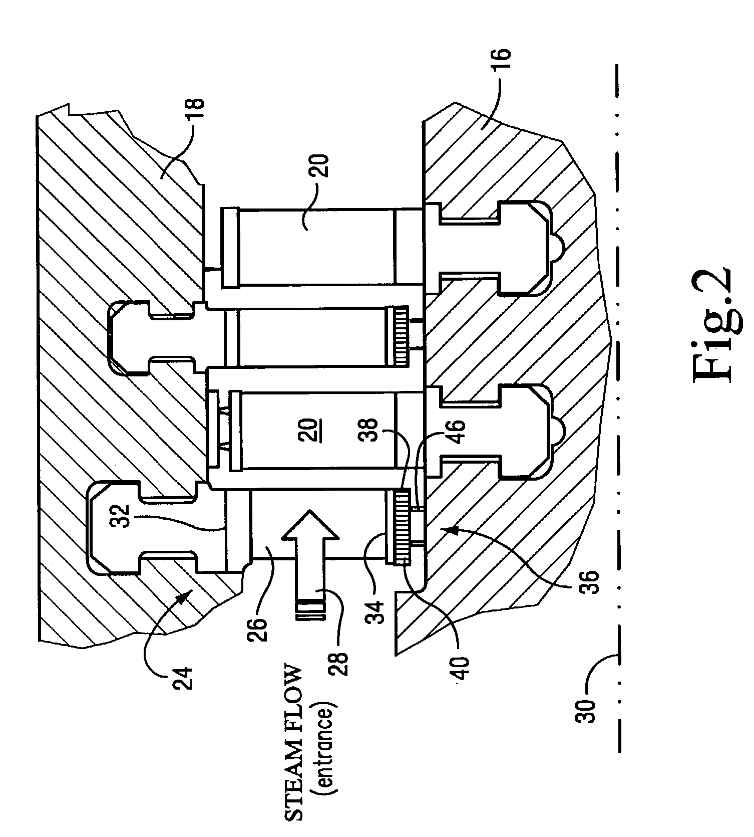 Patent us  nozzle interstage seal for steam