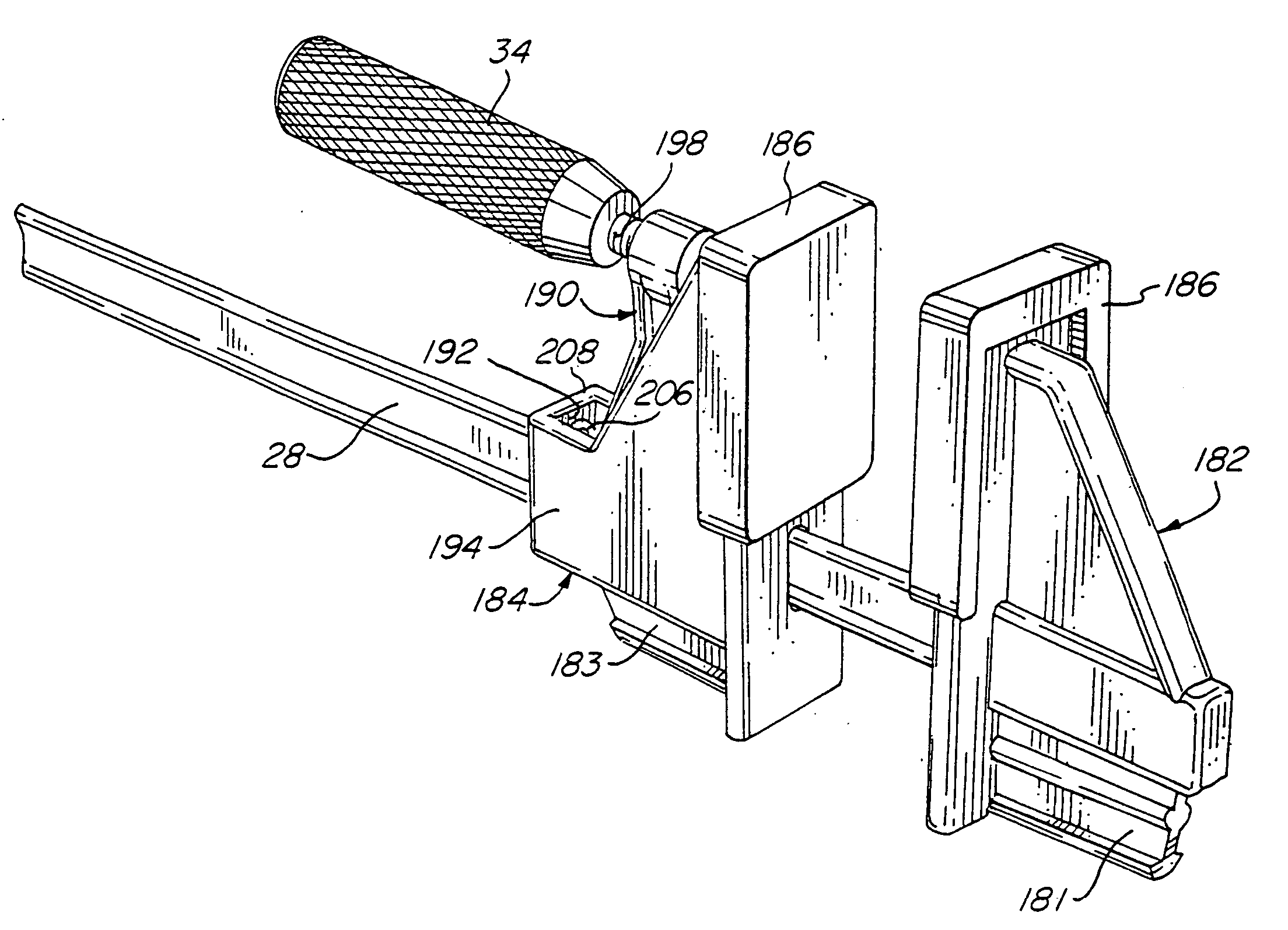 patent us20040245692 - bar clamp