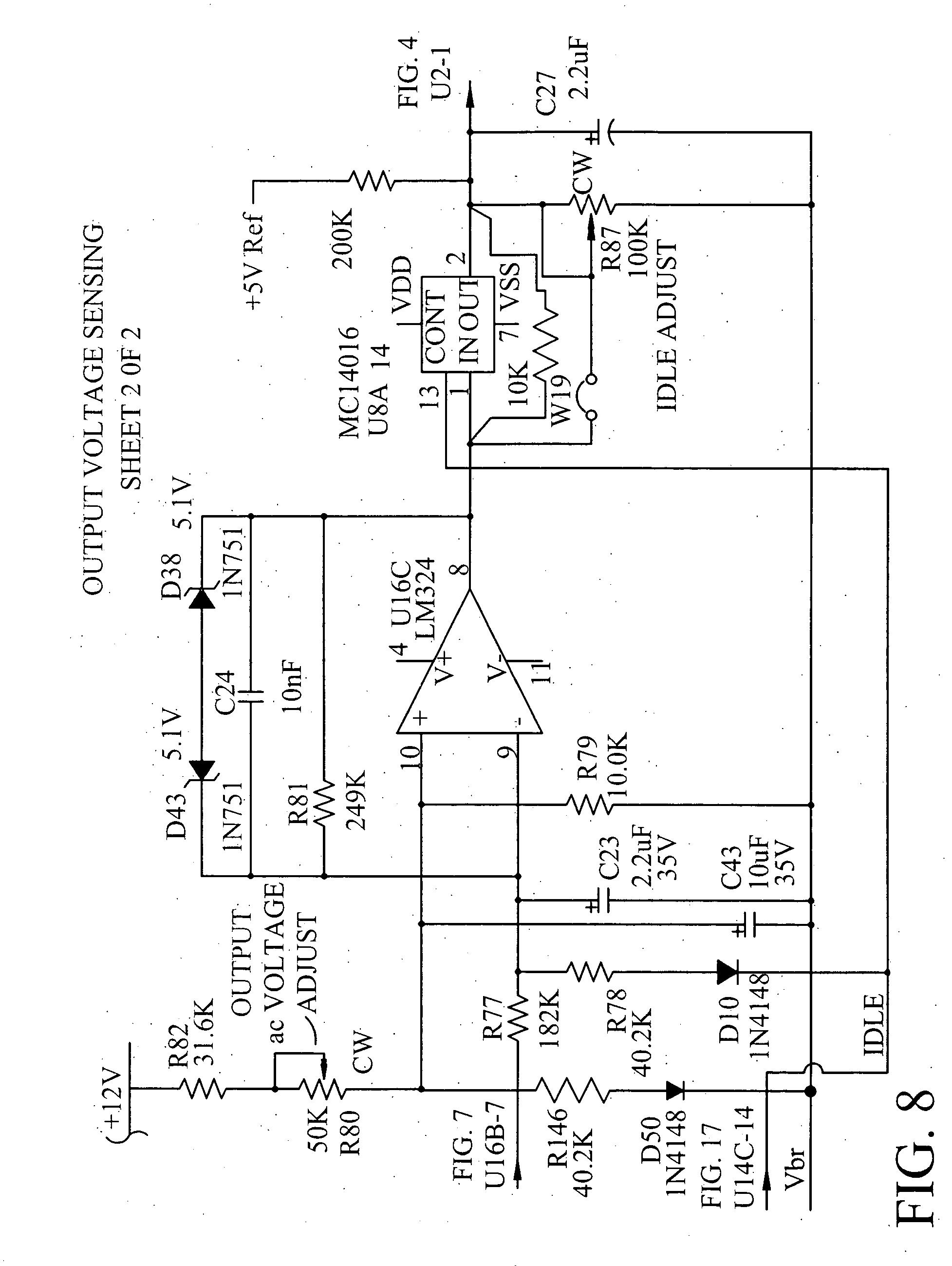 patent us20040257834 - high output power quasi-square wave inverter circuit