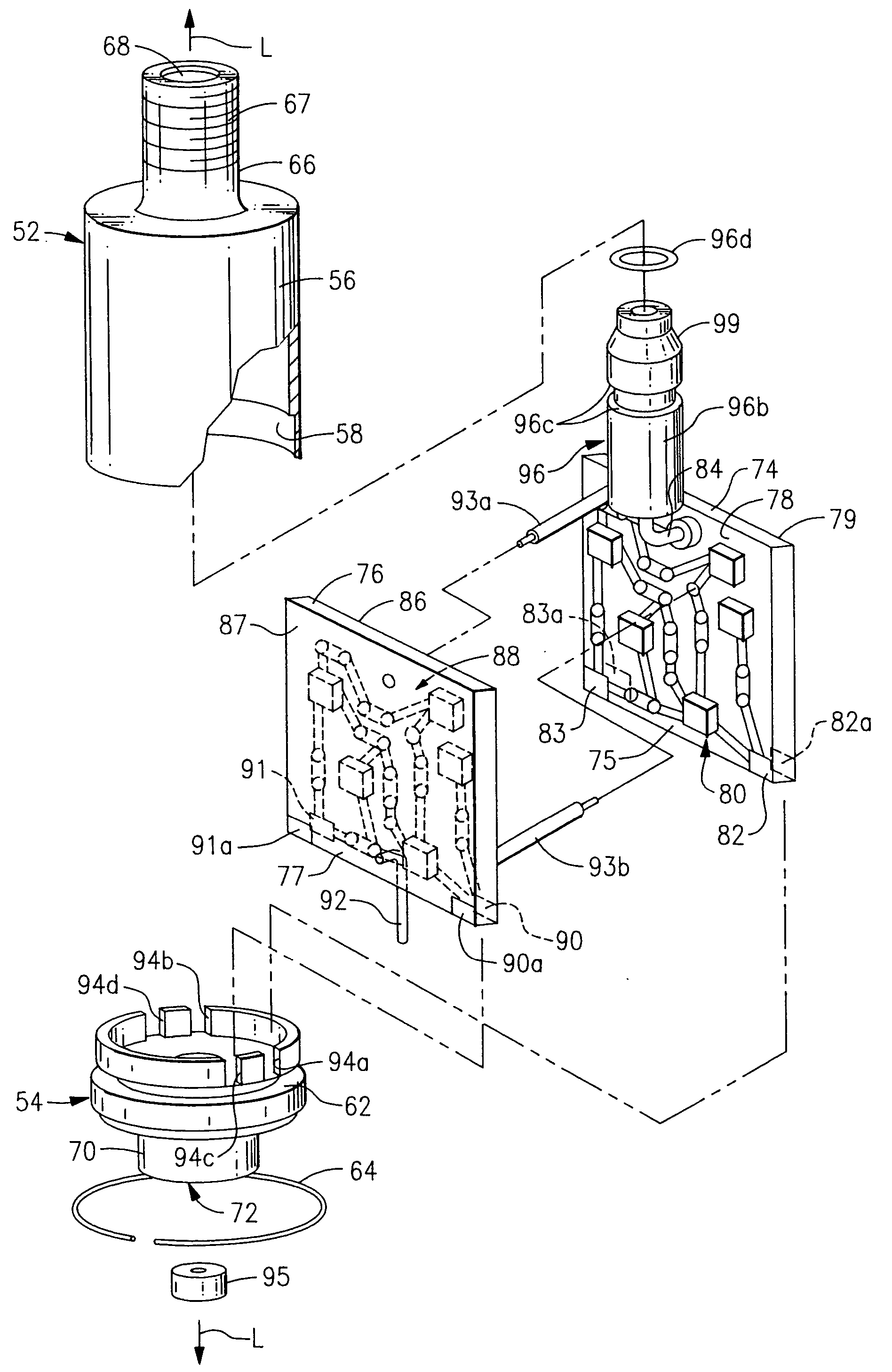 patent us20050001697 - electronic filter assembly