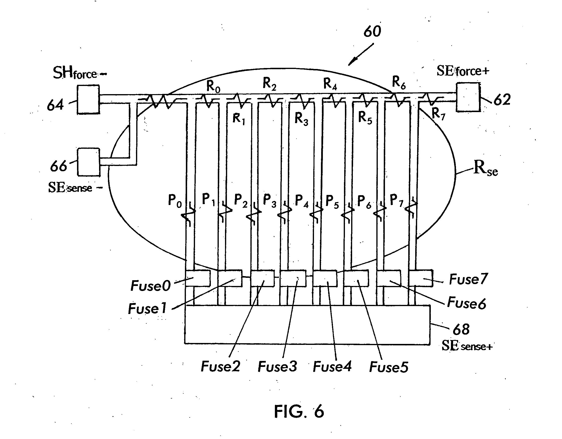 patent us20050017760 - current sense shunt resistor circuit