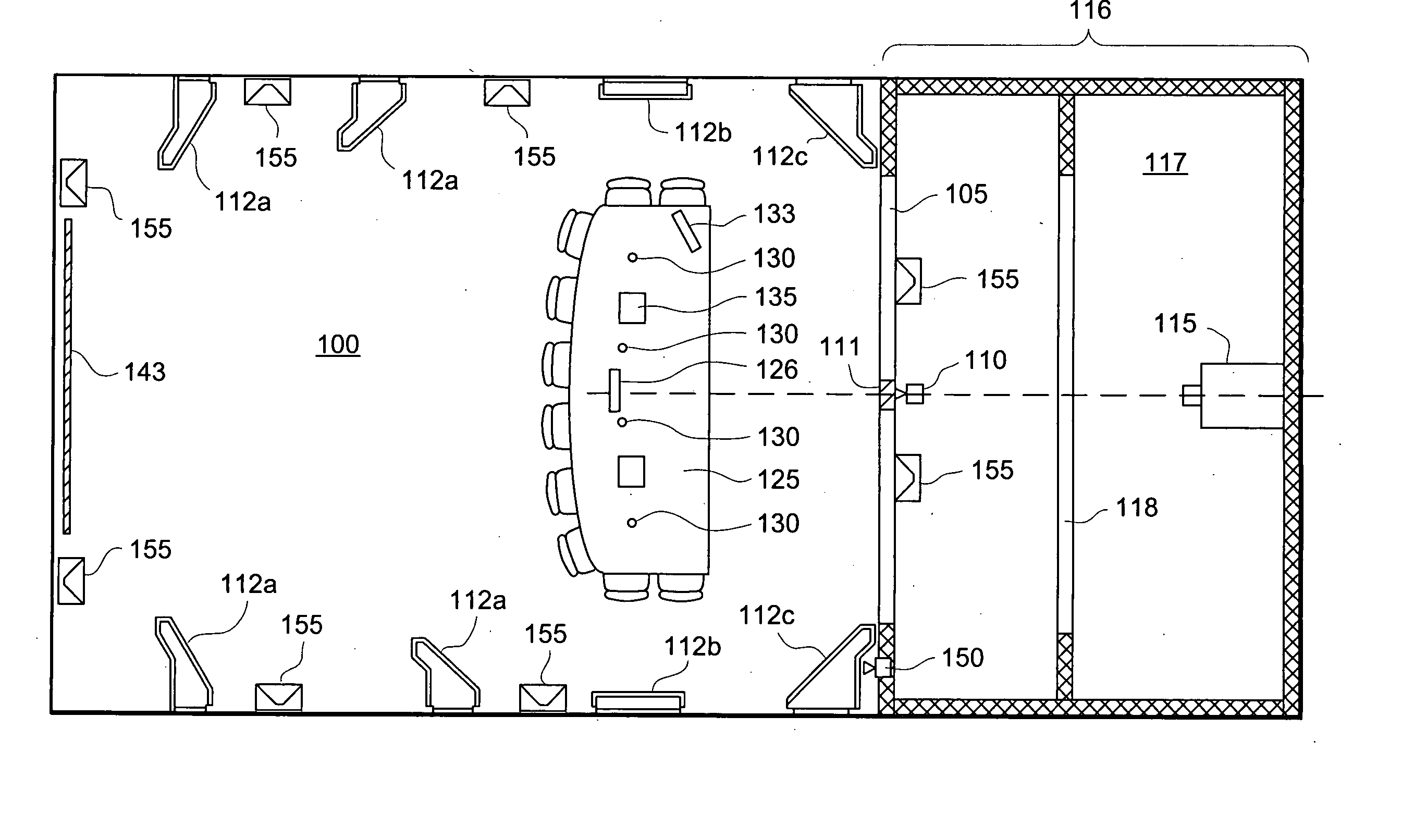 Patent us20050024484 virtual conference room google for Banquet room layout planner