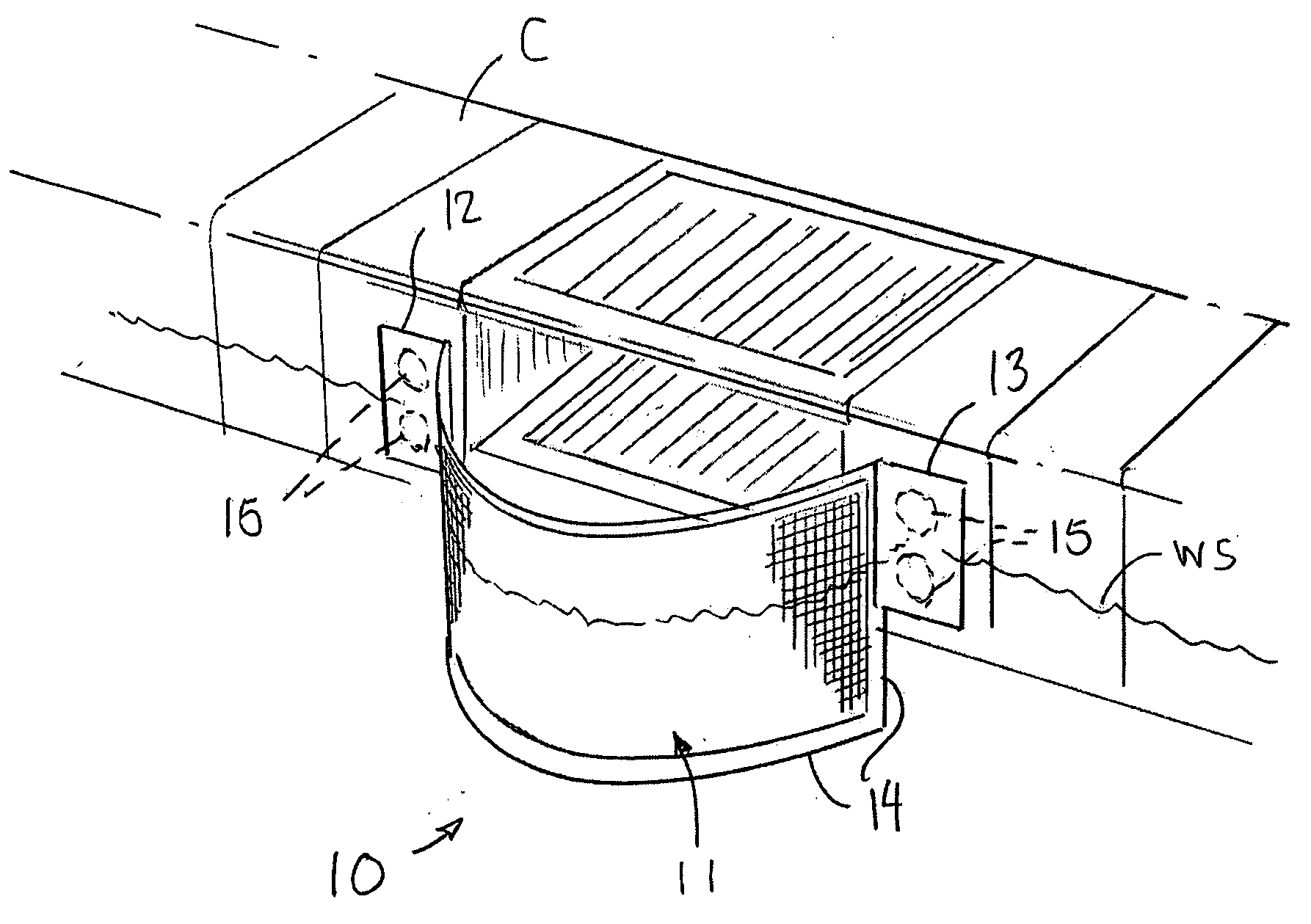 Patent Us20050055898 Guard For Swimming Pool Skimmers