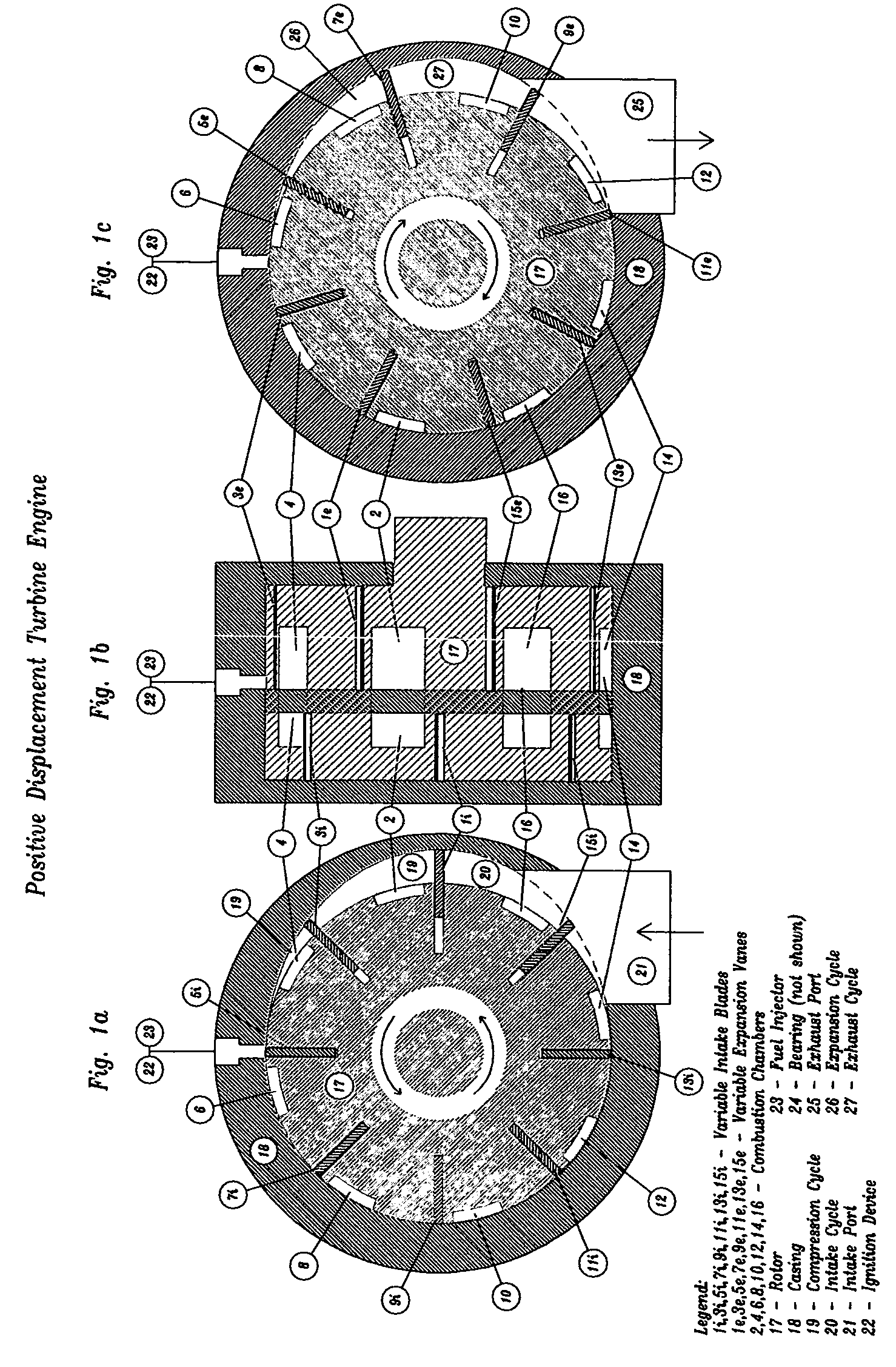 patent  positive displacement turbine engine google patents