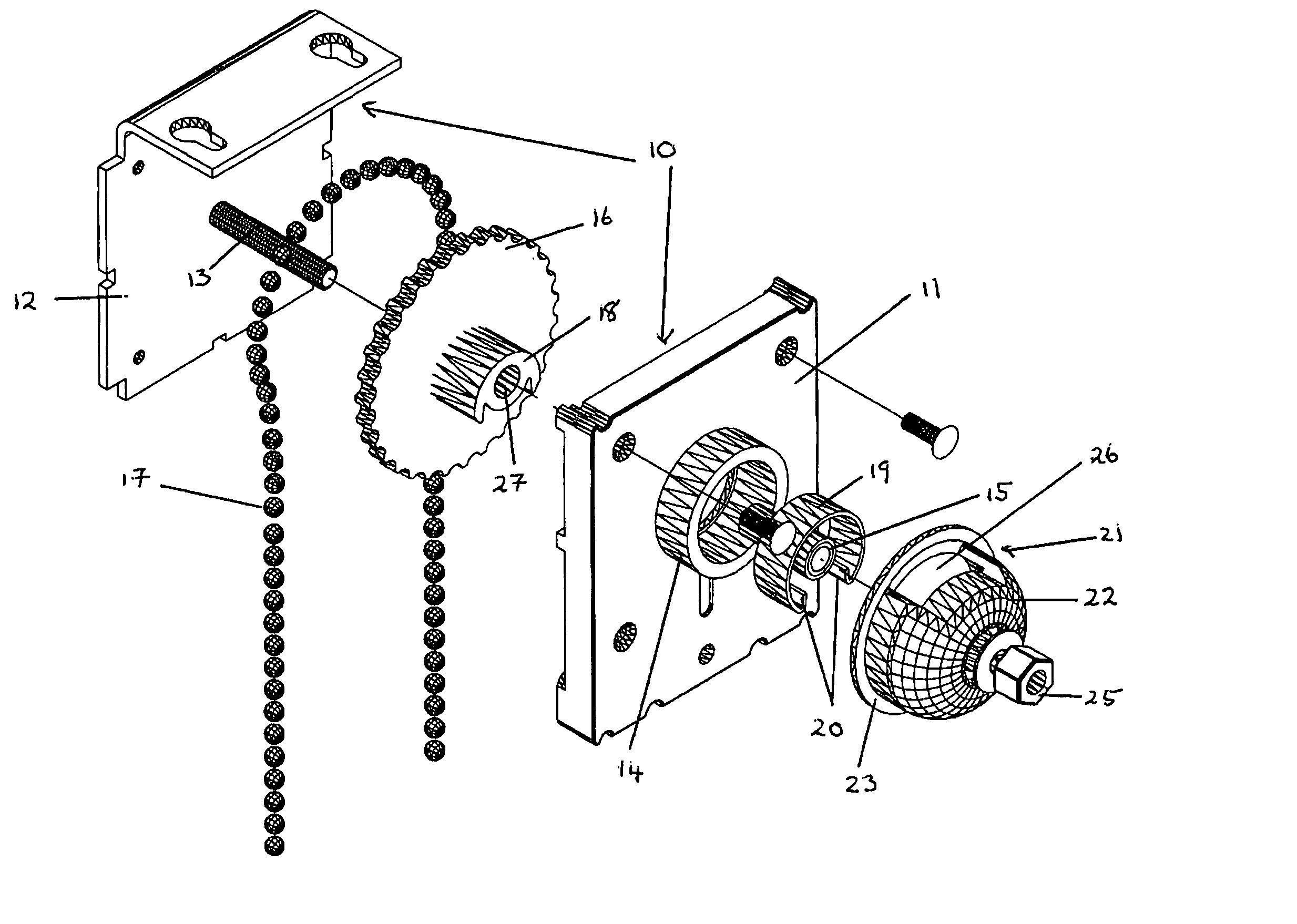 Roller Blind Mechanism Home Safe