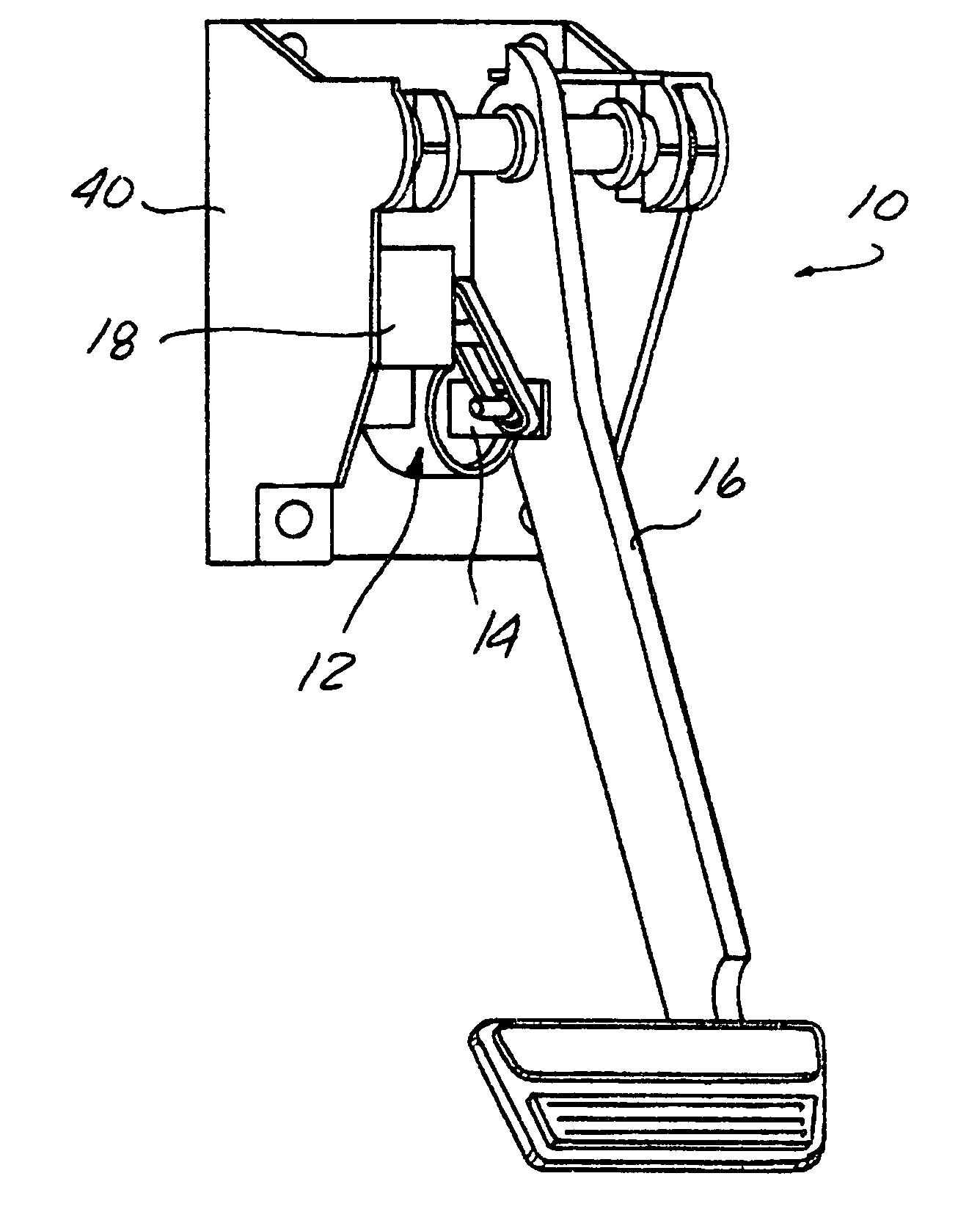 patent us20050082909 - pedal feel emulator mechanism for brake by wire pedal