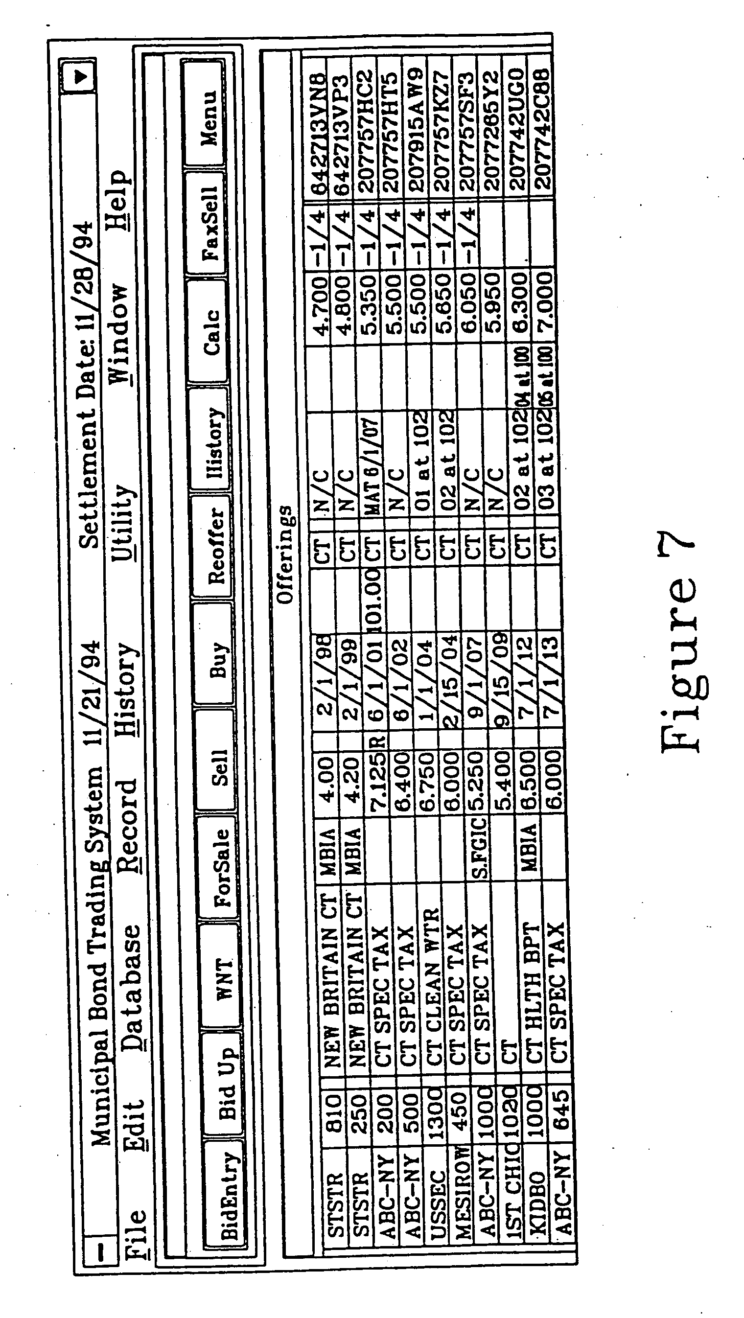 Electronic bond trading system