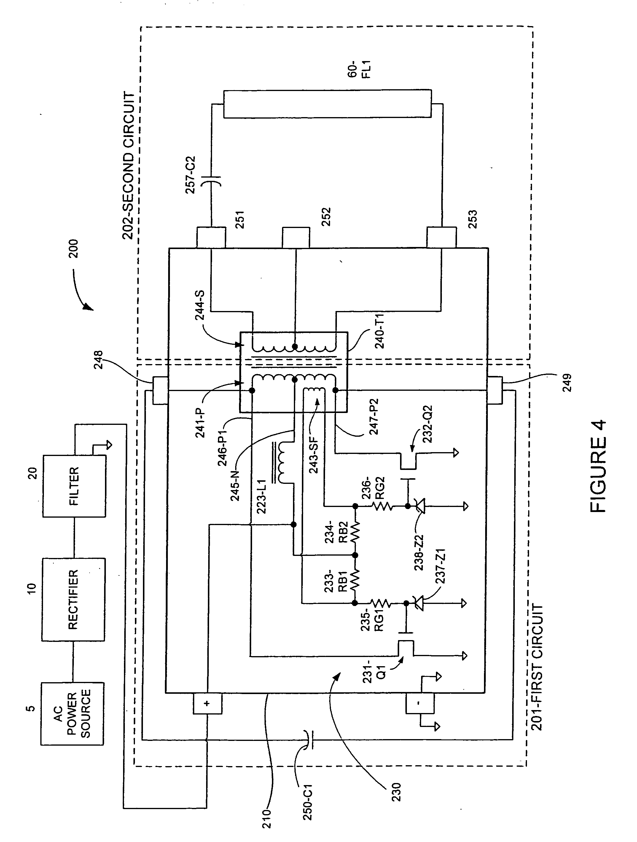 Patent Us20050104539 High Frequency Electronic Ballast With Sine Singlejunction Transistor Wave Oscillator Circuit Diagramas Drawing