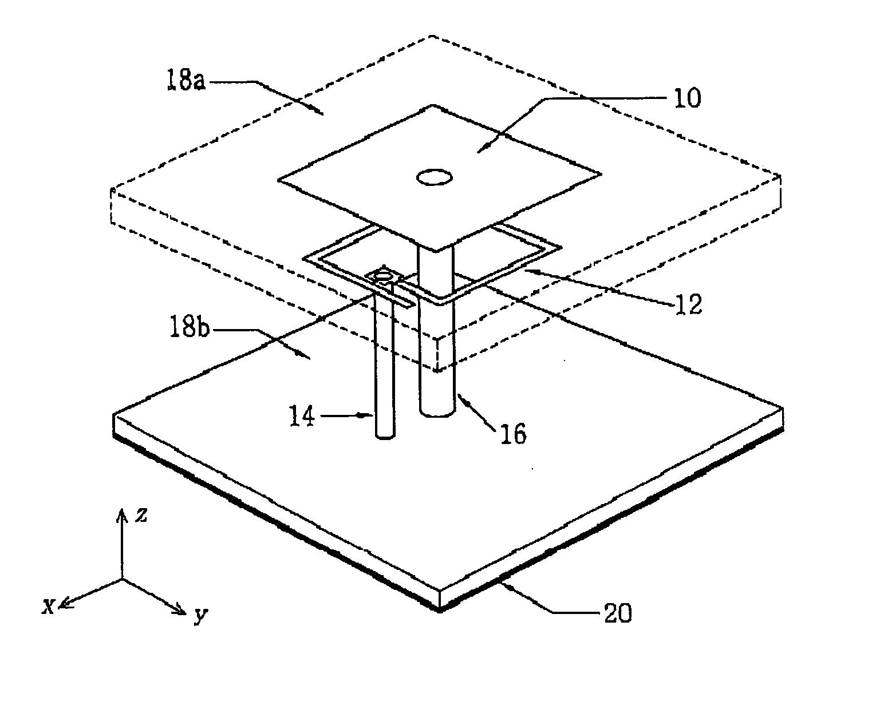 patent us20050116867 - electromagnetically coupled small broadband monopole antenna