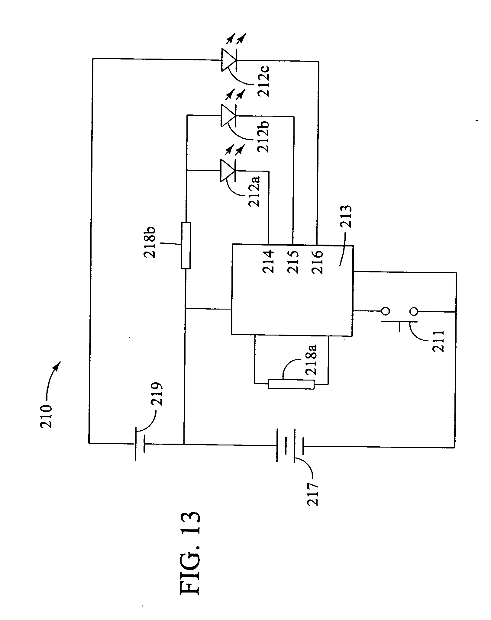 Patent Us20050134191 Flashing Light System With Multiple Voltages Circuit Led Flasher Universal 3v Circuits Designed By Drawing