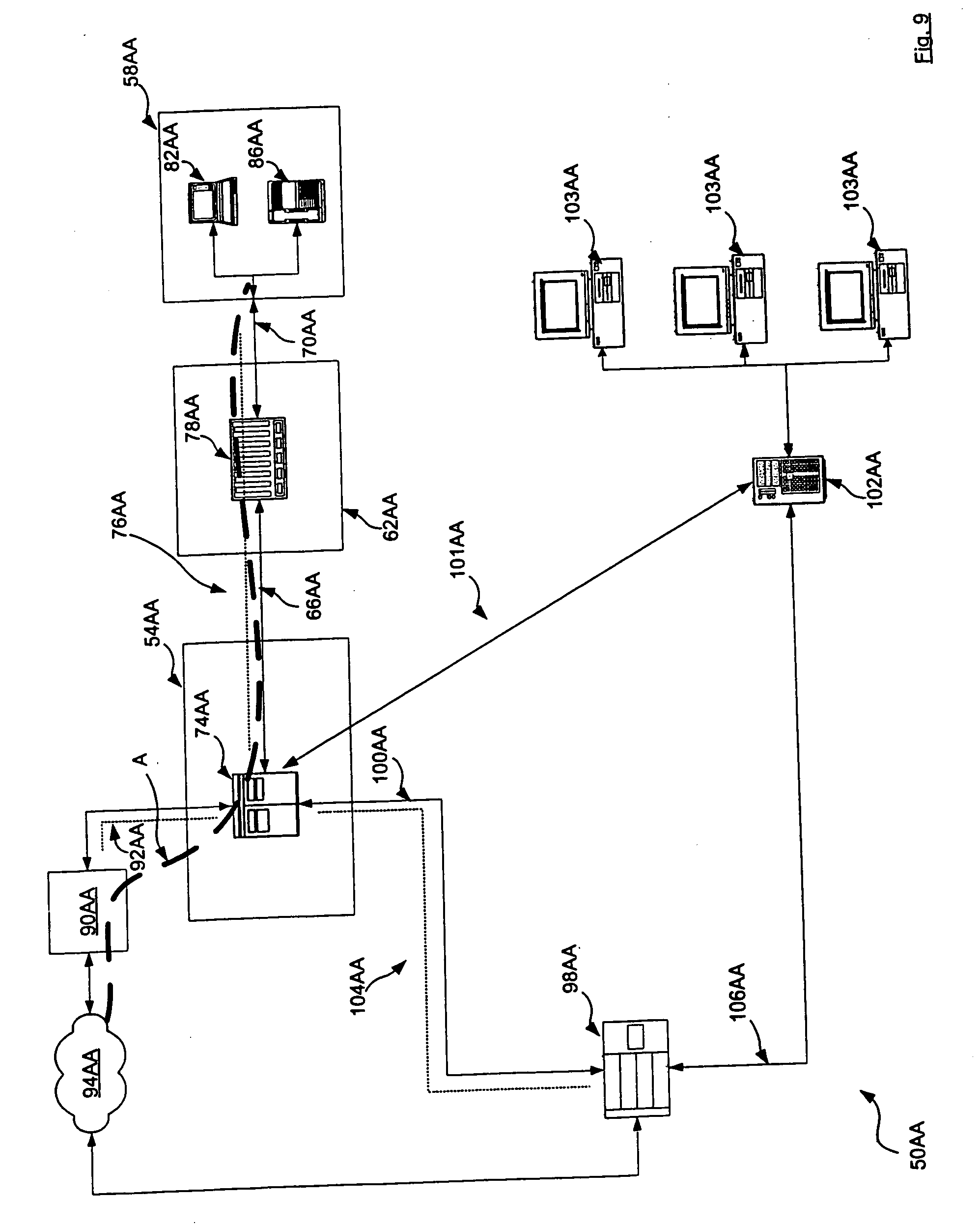 Patent Us20050135392 Method And System For Connection Verification Hunter Fan Switch Wiring Diagram Reverse Drawing