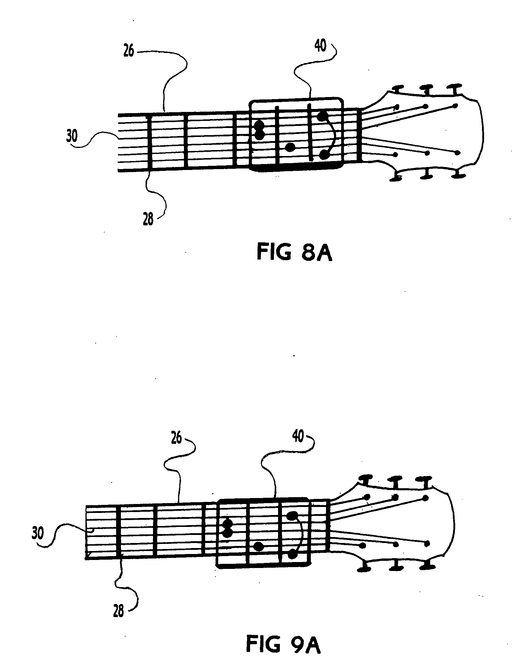Patent us20050145089 handi guitar for the handicapped guitar patent drawing hexwebz Gallery