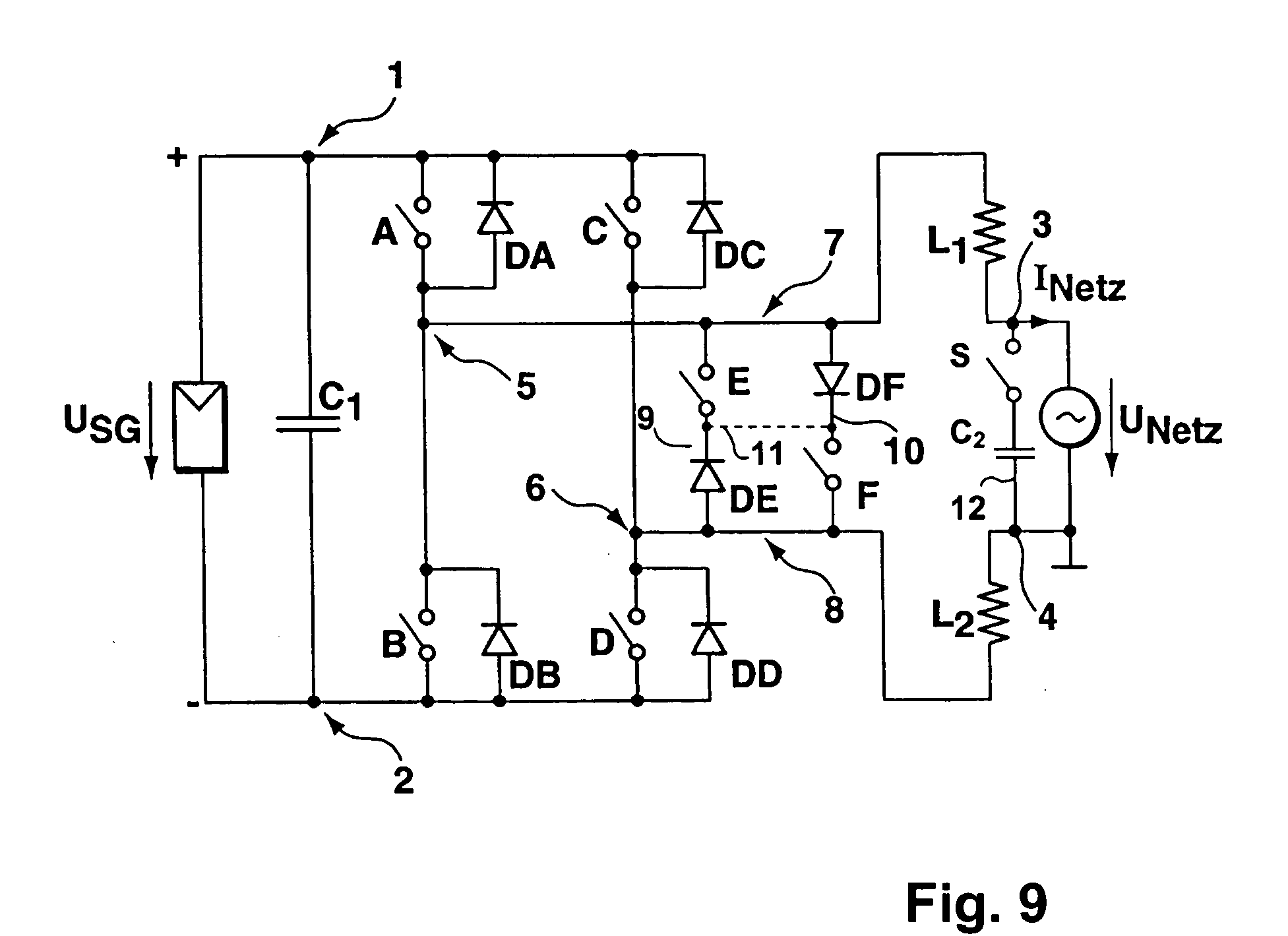 Patent Us20050174817 Dc Ac Converter To Convert Direct Electric Public Circuit Using Bridge Drawing