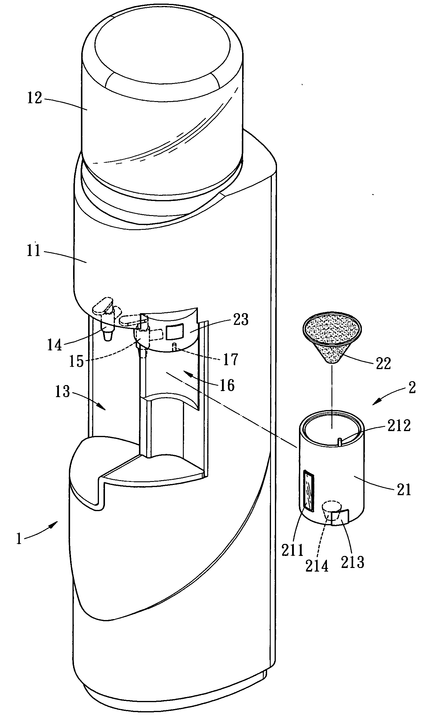 Patent Us20050188855 - Coffee And Water Dispenser