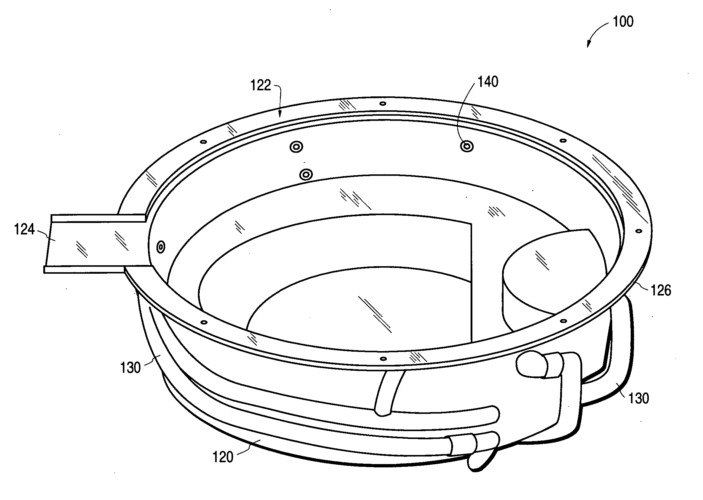 patent us20050198731 - spa insert with flat upper flange and integral spill way