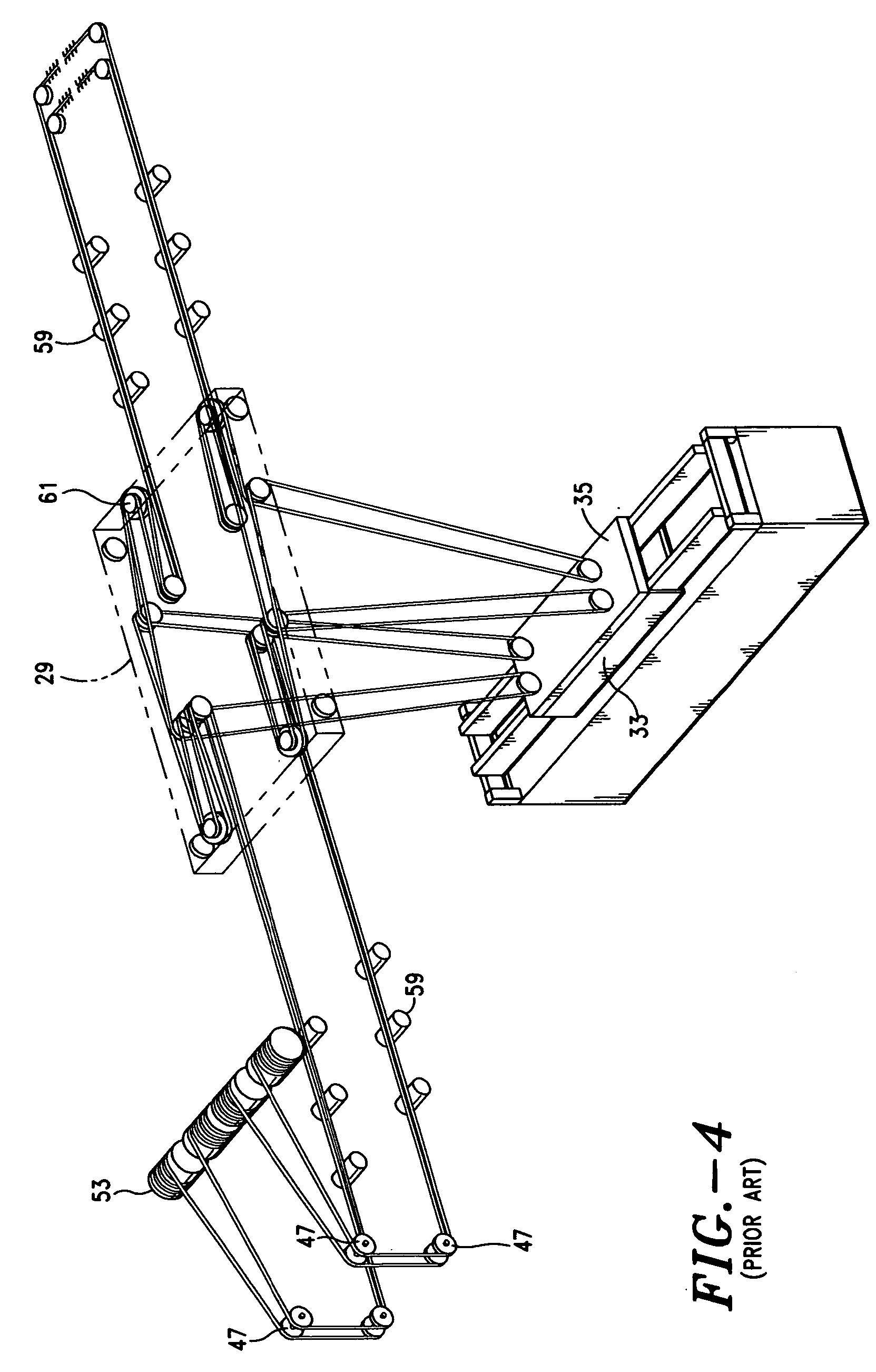 patent us wire rope reeving support system for cargo patent drawing