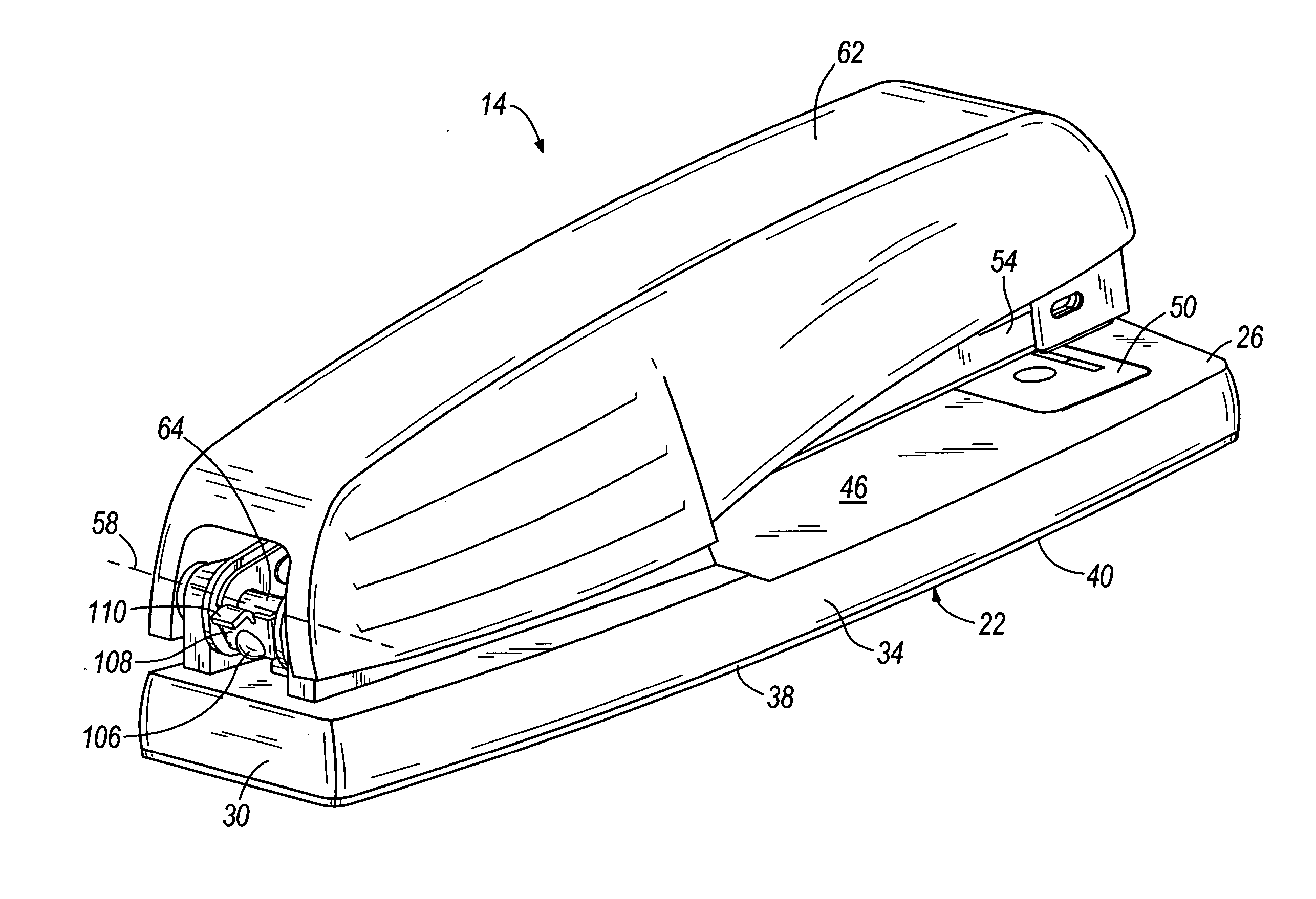 Stapler Assembly Drawing Patent Drawing