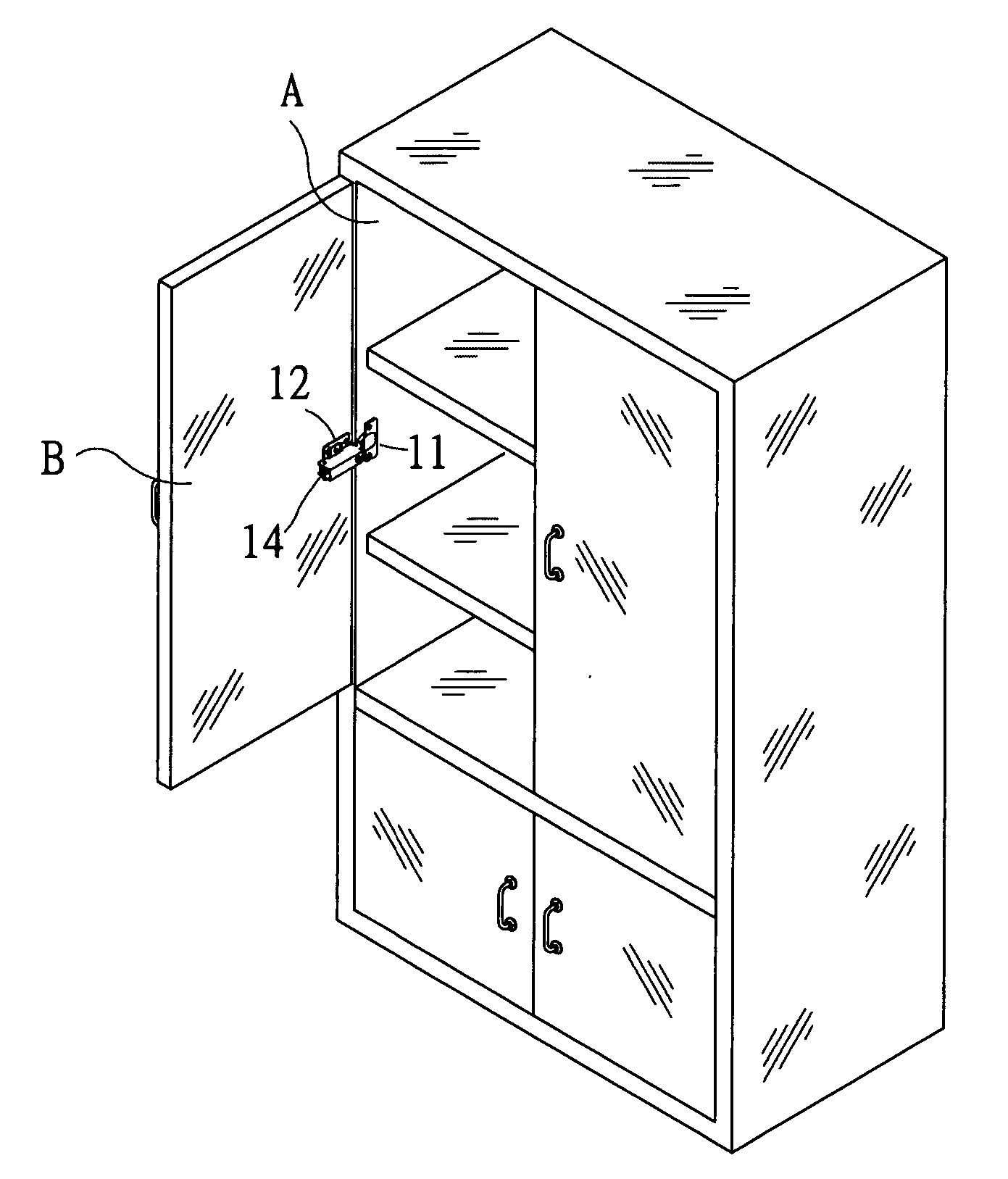 Patent Us20050248246 Continuous Buffer Cabinet Hinge