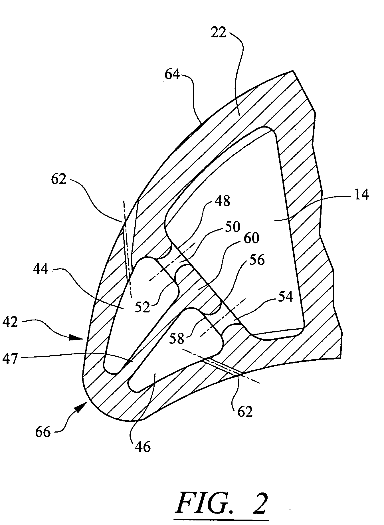 Patent US Impingement cooling system for a turbine