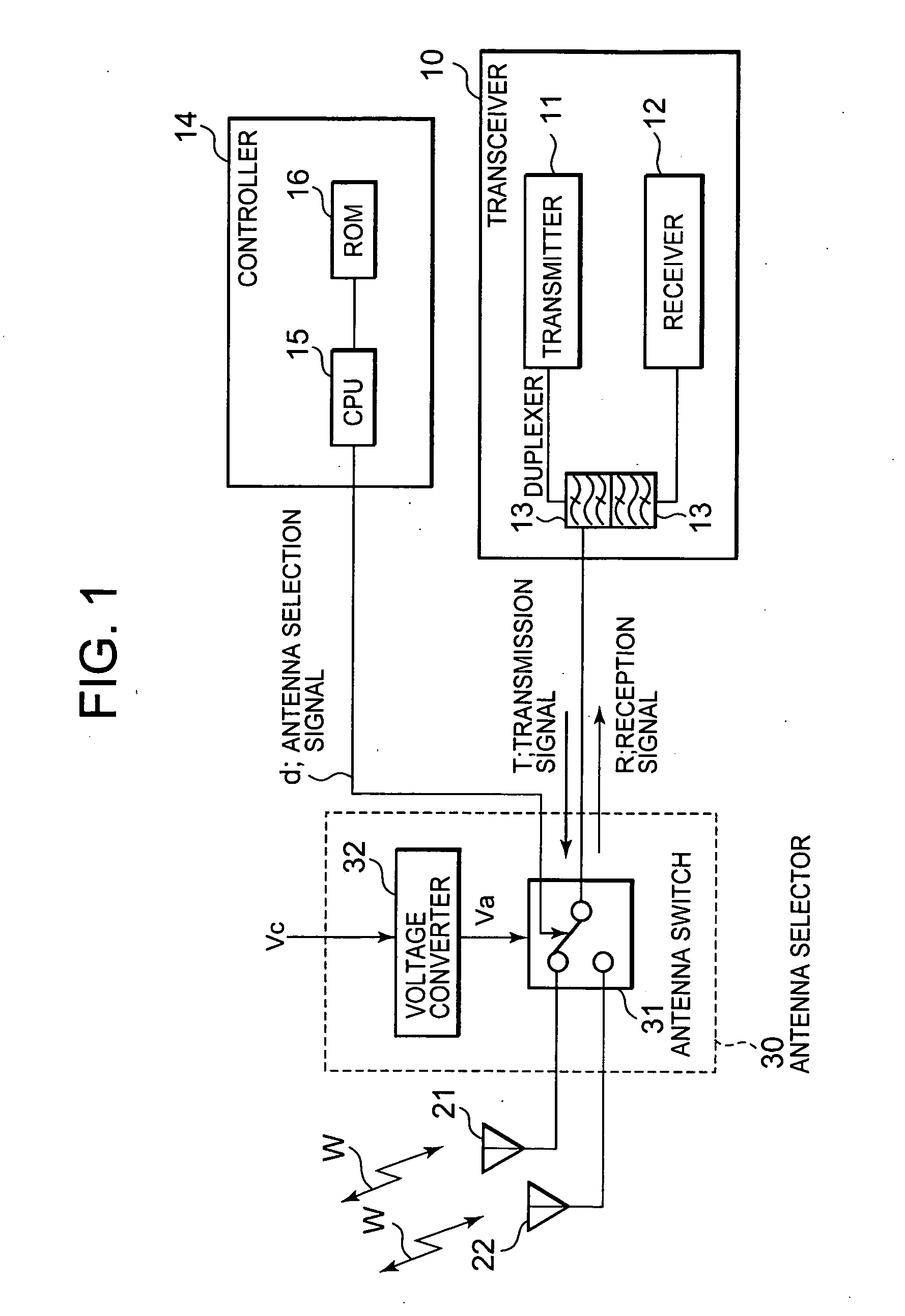 Patent Us20060003797 Portable Radio Terminal Antenna Selector Switch Circuit Drawing