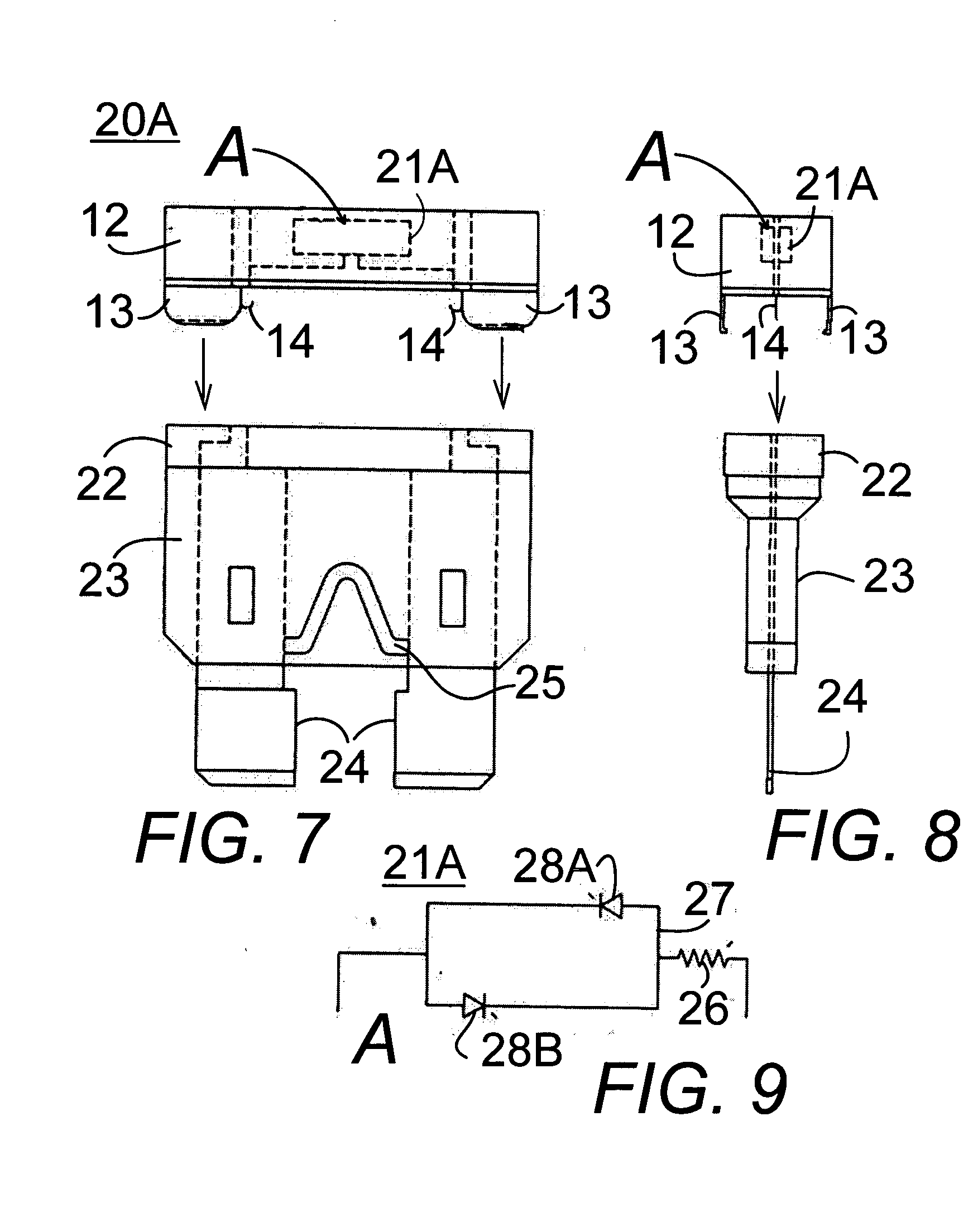 Brevet Us20060017540 Fuse Blow Out Dual Led Indicator Google Brevets Light Bulb Patente On Wire Battery Circuit Patent Drawing