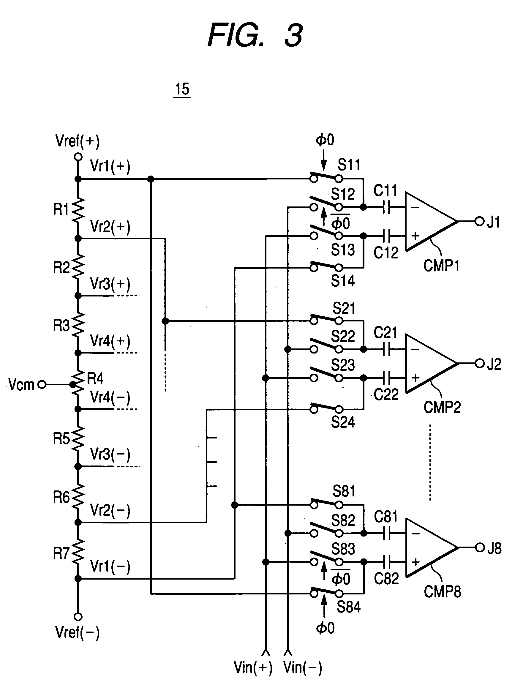 Patent Us20060022861 Semiconductor Integrated Circuit For Threebit Temperature Controller Controlcircuit Drawing