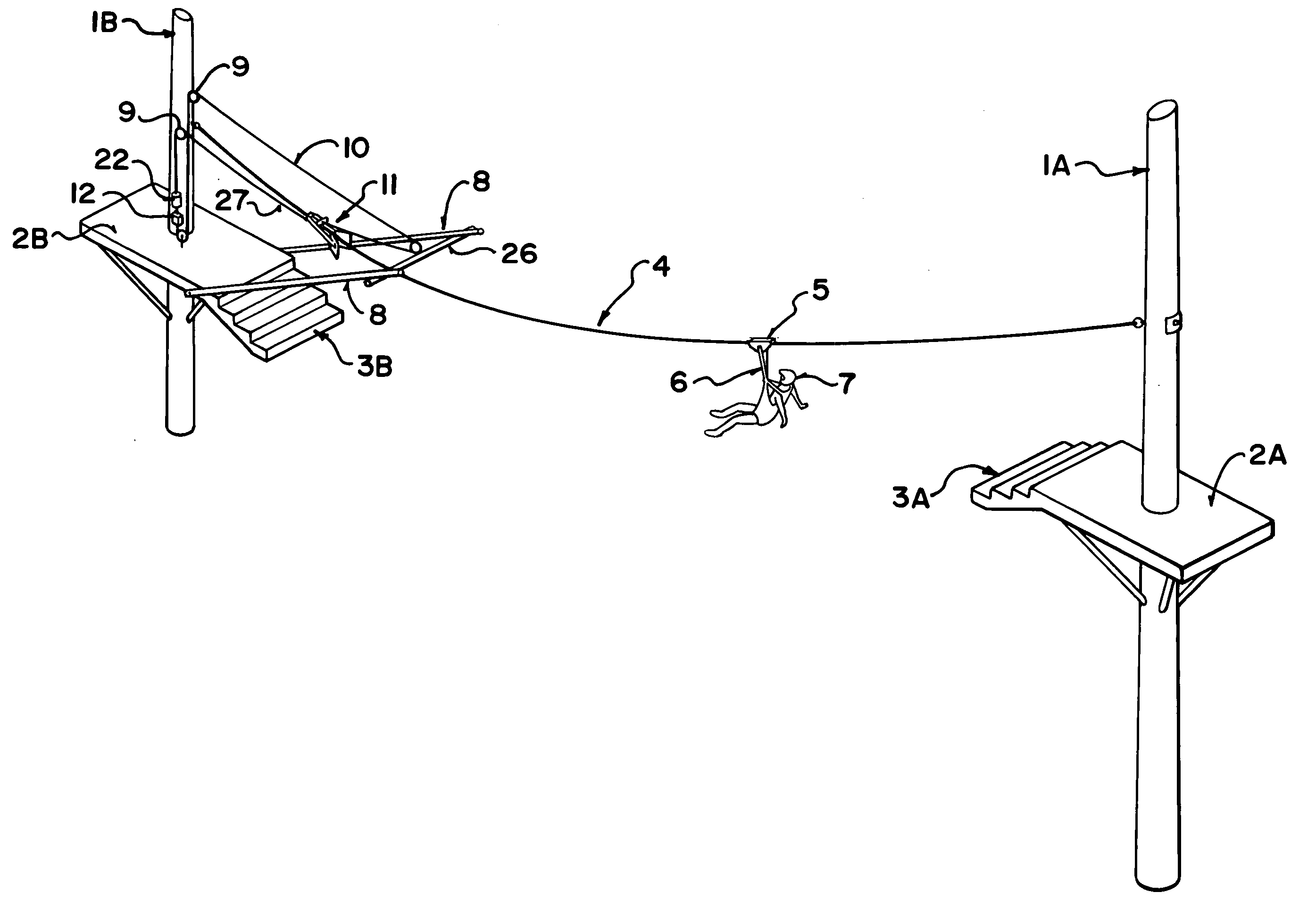 D Line Drawings Zip : Patent us  zipline braking and motion arrest