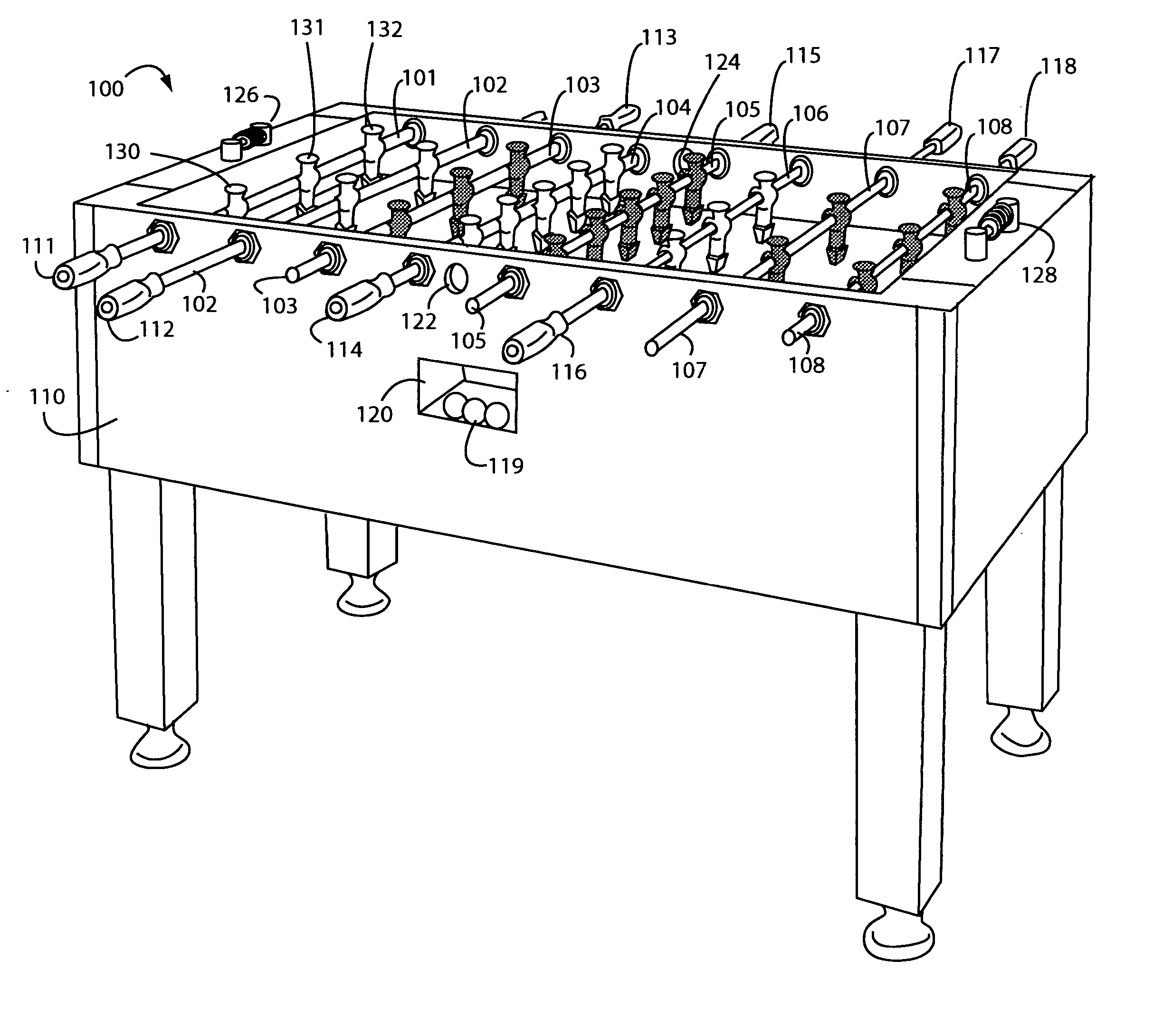 Patent Us20060043667 Quick Change Foosball Table Rod