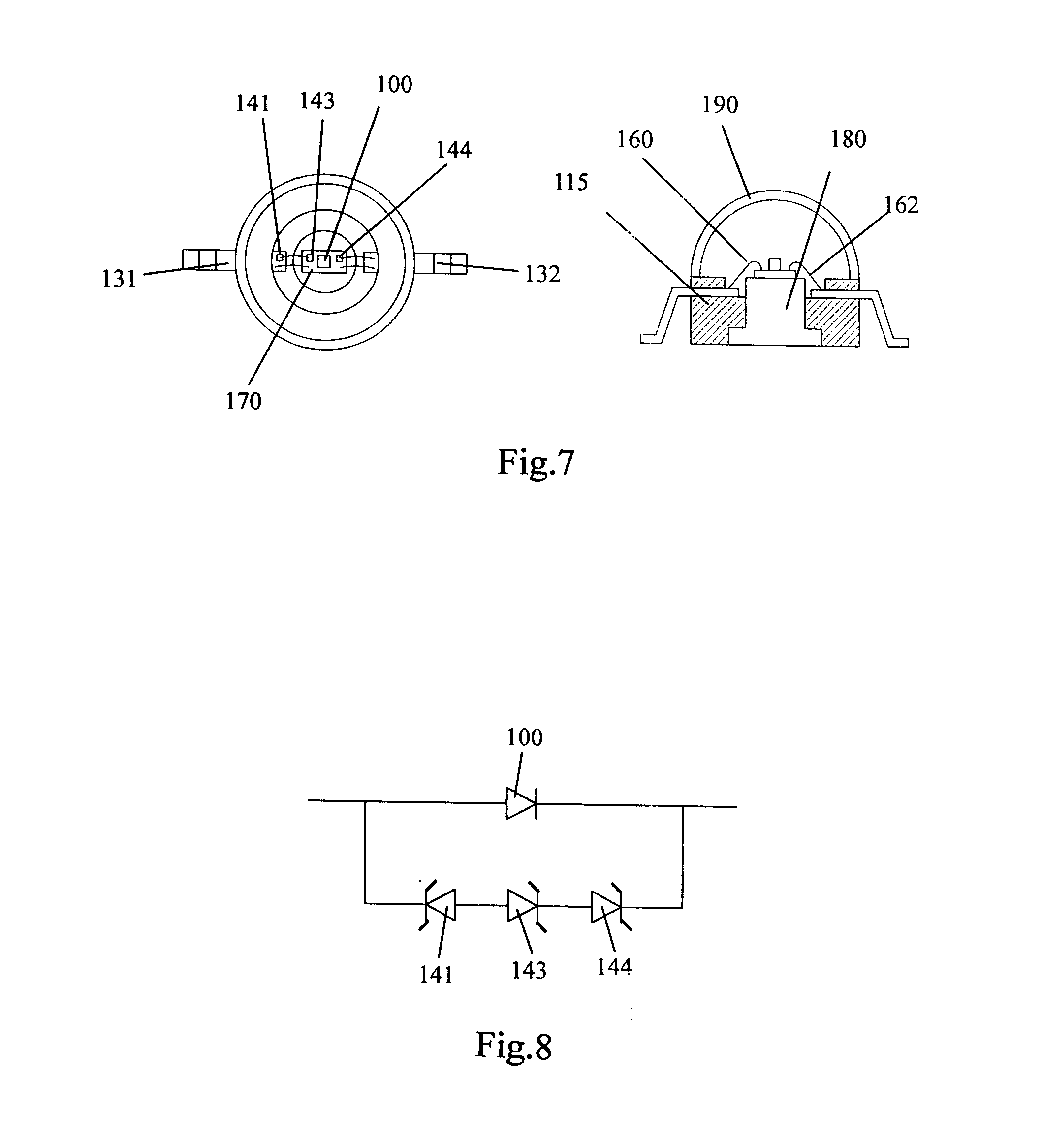 patent us20060055012 - led package with zener diode protection circuit