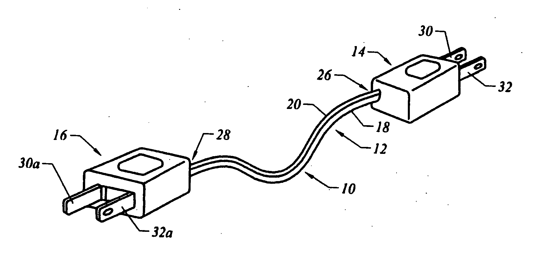 Plug Cord Retainer Unit Google Patents On Wiring Extension An Patent Us20060079111 Double Male Two Prong Electrical Connector Plugs