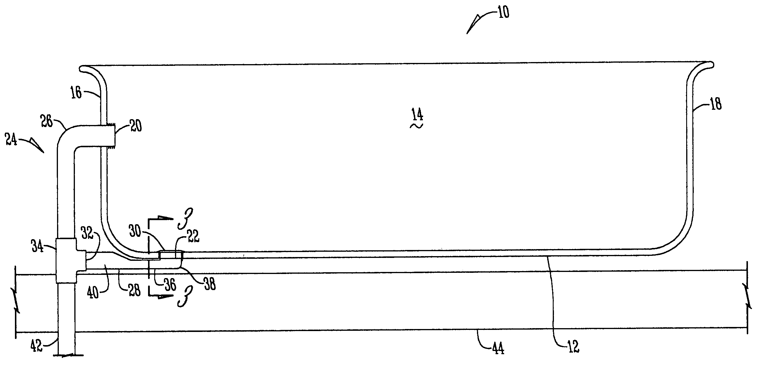 Patent us20060096019 low profile drain assembly google for Low height bathtub