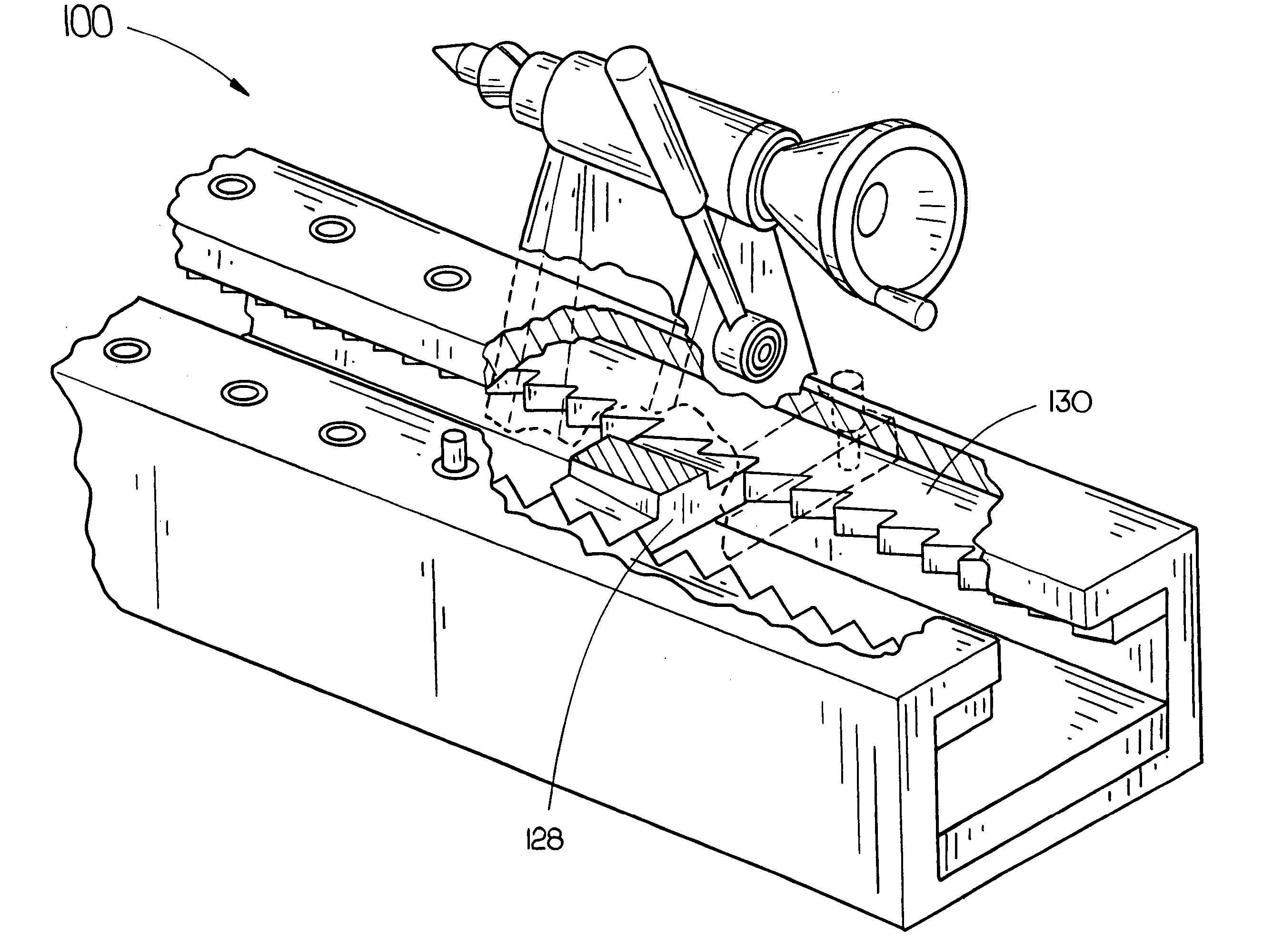 patent us20060096423 positive lock tail stock support for lathe