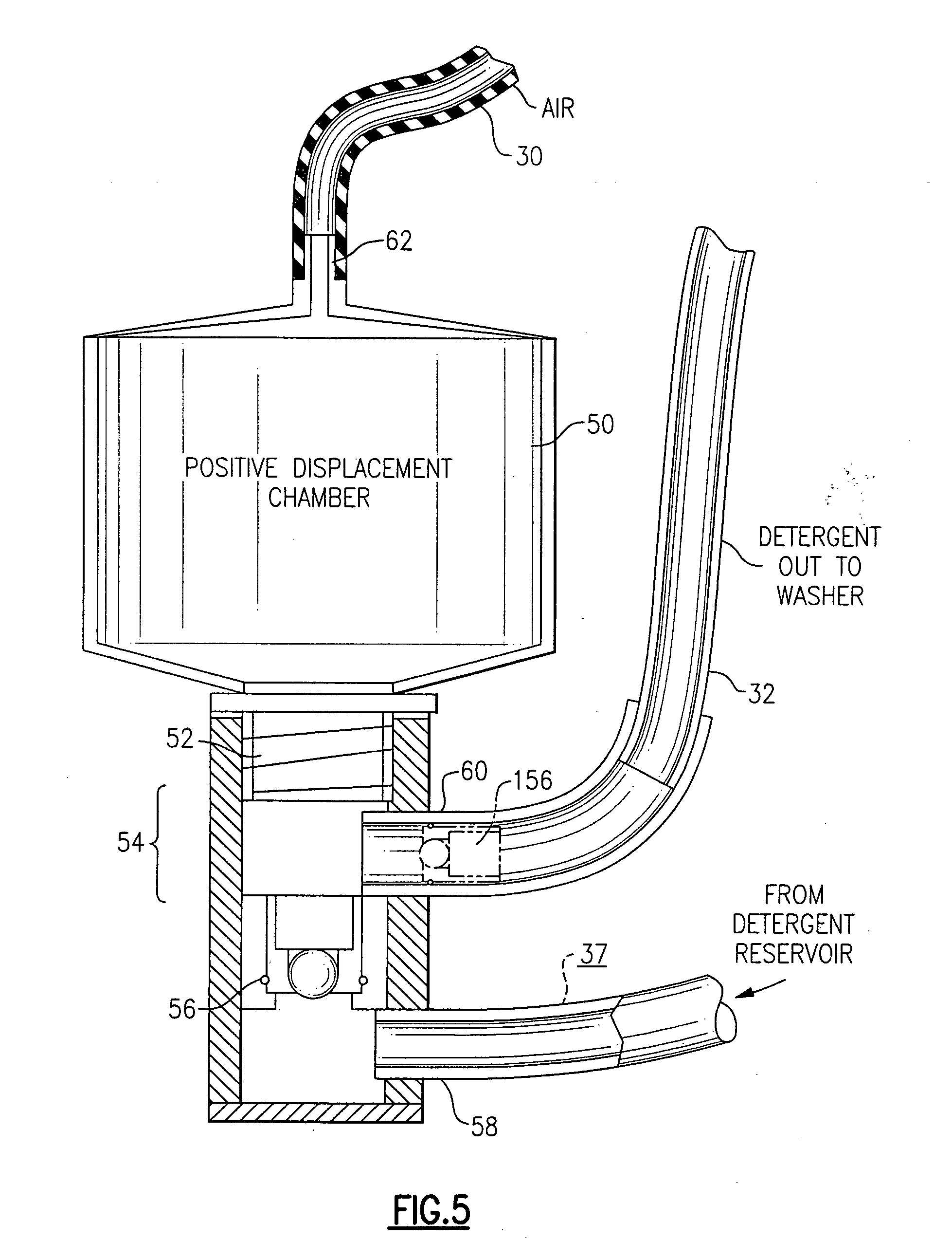 patent us20060117811 - liquid detergent dispensing system for automatic washer
