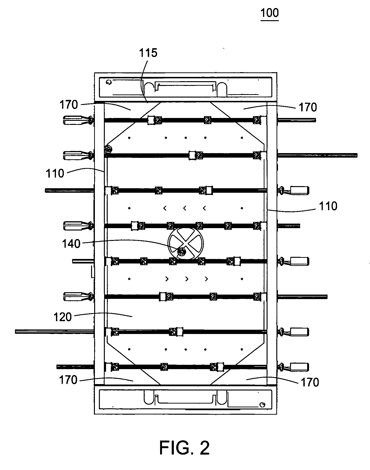 patent us20060119030 - foosball table