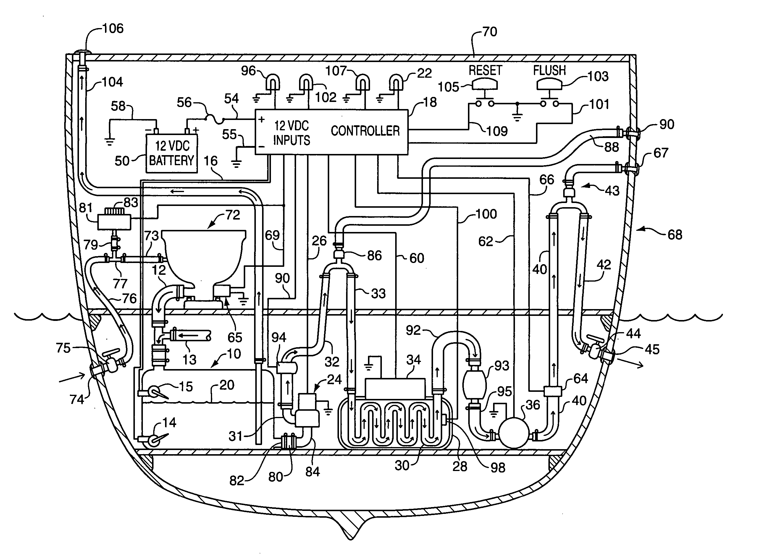 Patent us20060144800 sewage treatment system for use in for Sewage piping system