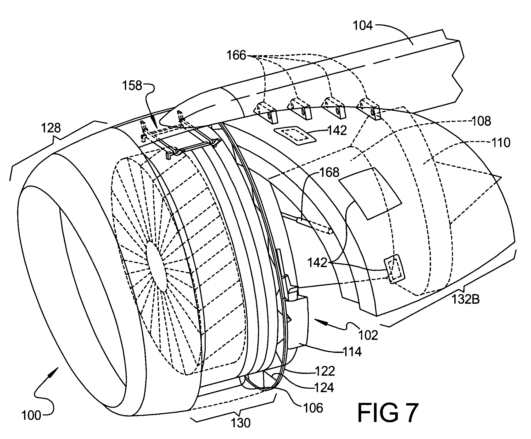 US20060145001 as well US6340135 besides Radial Aircraft Engine Diagram further  on 787 jet engine nacelle